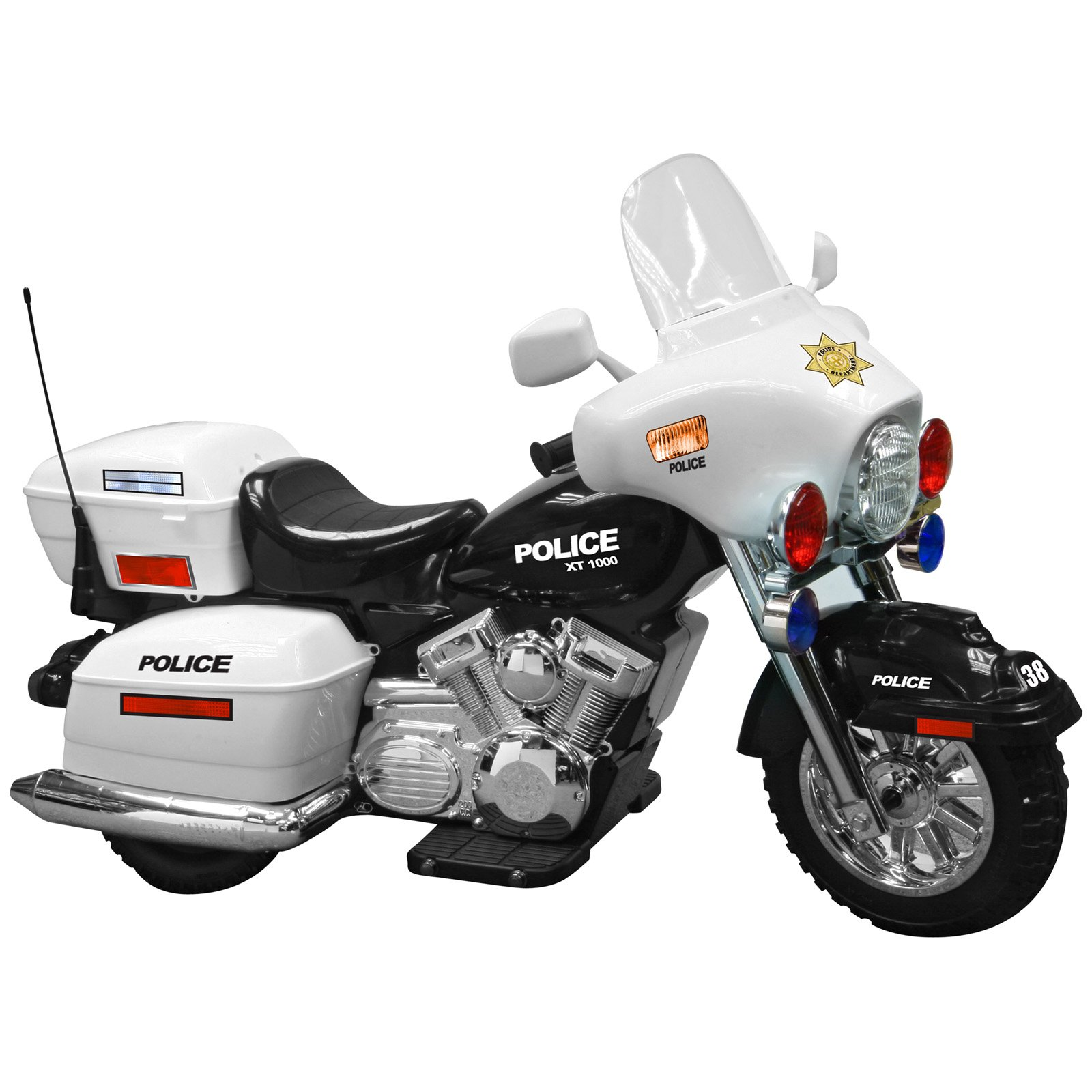 motorcycle police toy battery ride children kid powered toys riding fun operated walmart motorz electric motorcycles motorbike cars patrol wheel