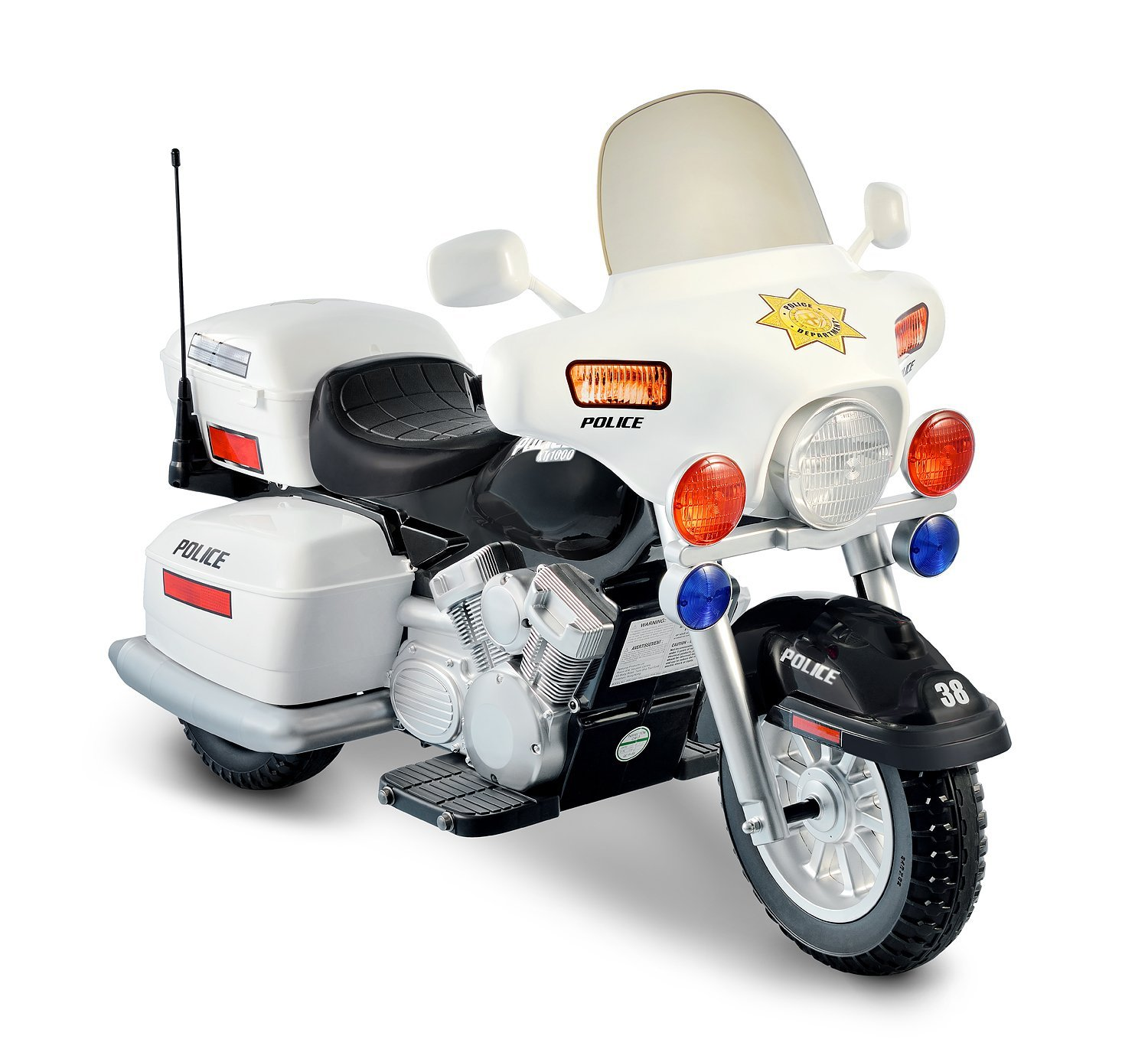 Amazon.com: 12V Police Motorcycle: Toys & Games