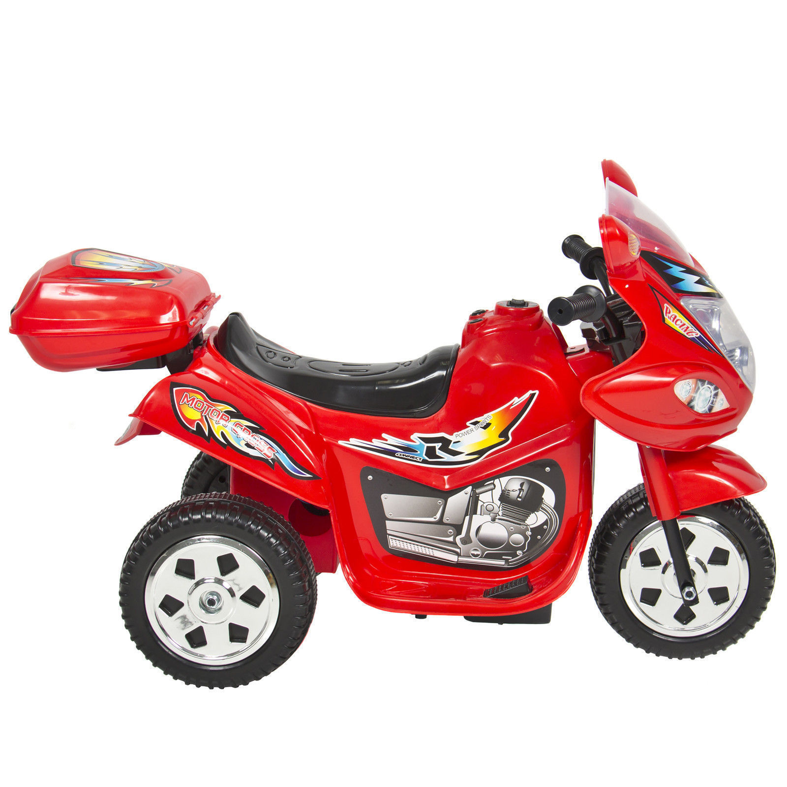 Kids Ride on Motorcycle 6v Toy Battery Powered Electric 3 Wheel ...