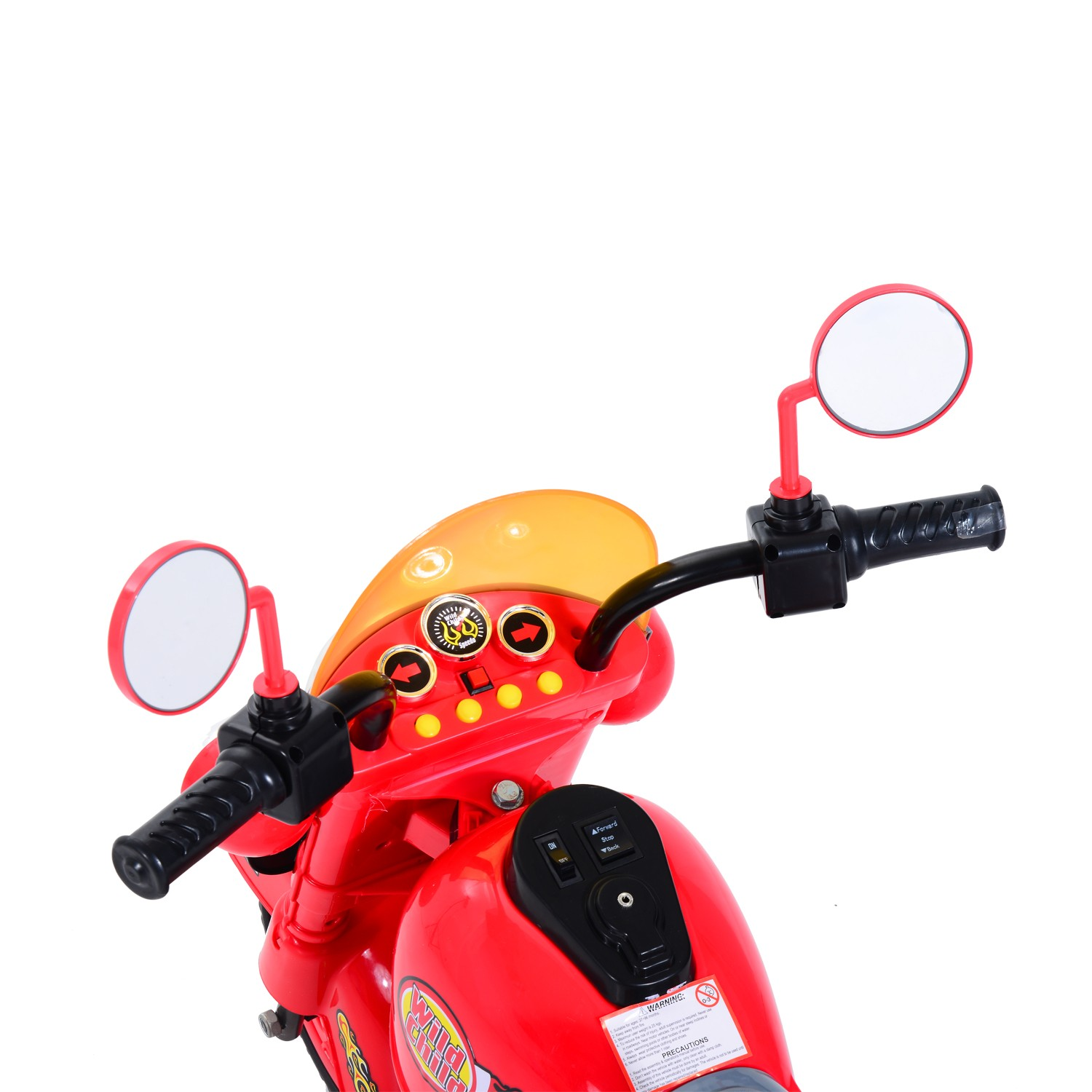 HOMCOM Kids Ride On Kids Electric Motorcycle, 6V-Red
