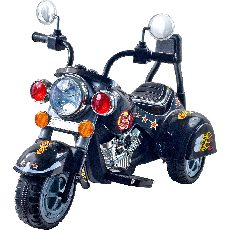 Amazon.com: 3 Wheel Chopper Trike Motorcycle for Kids, Battery ...