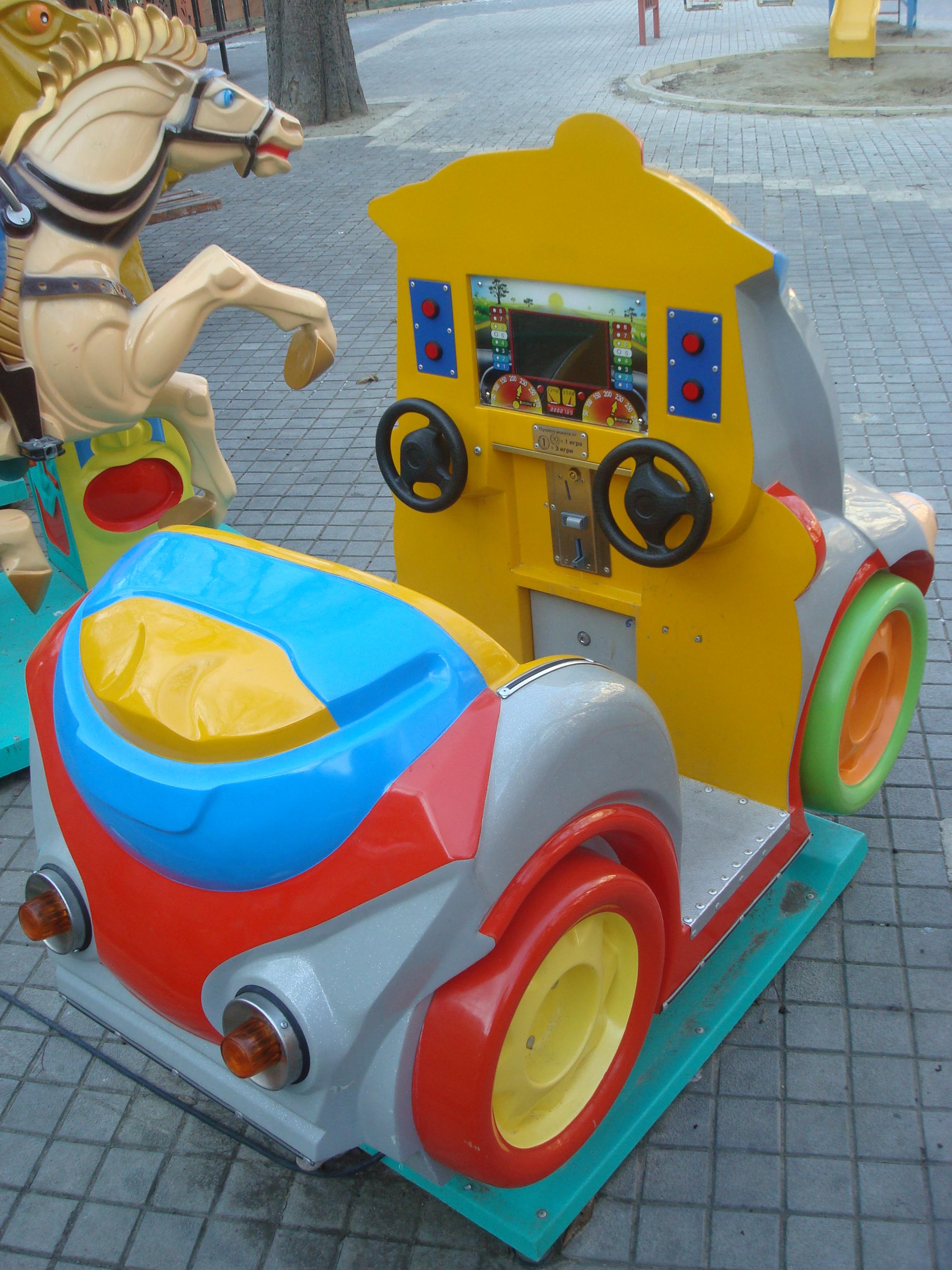 Children's playground, Amusement, Attraction, Car, Children, HQ Photo