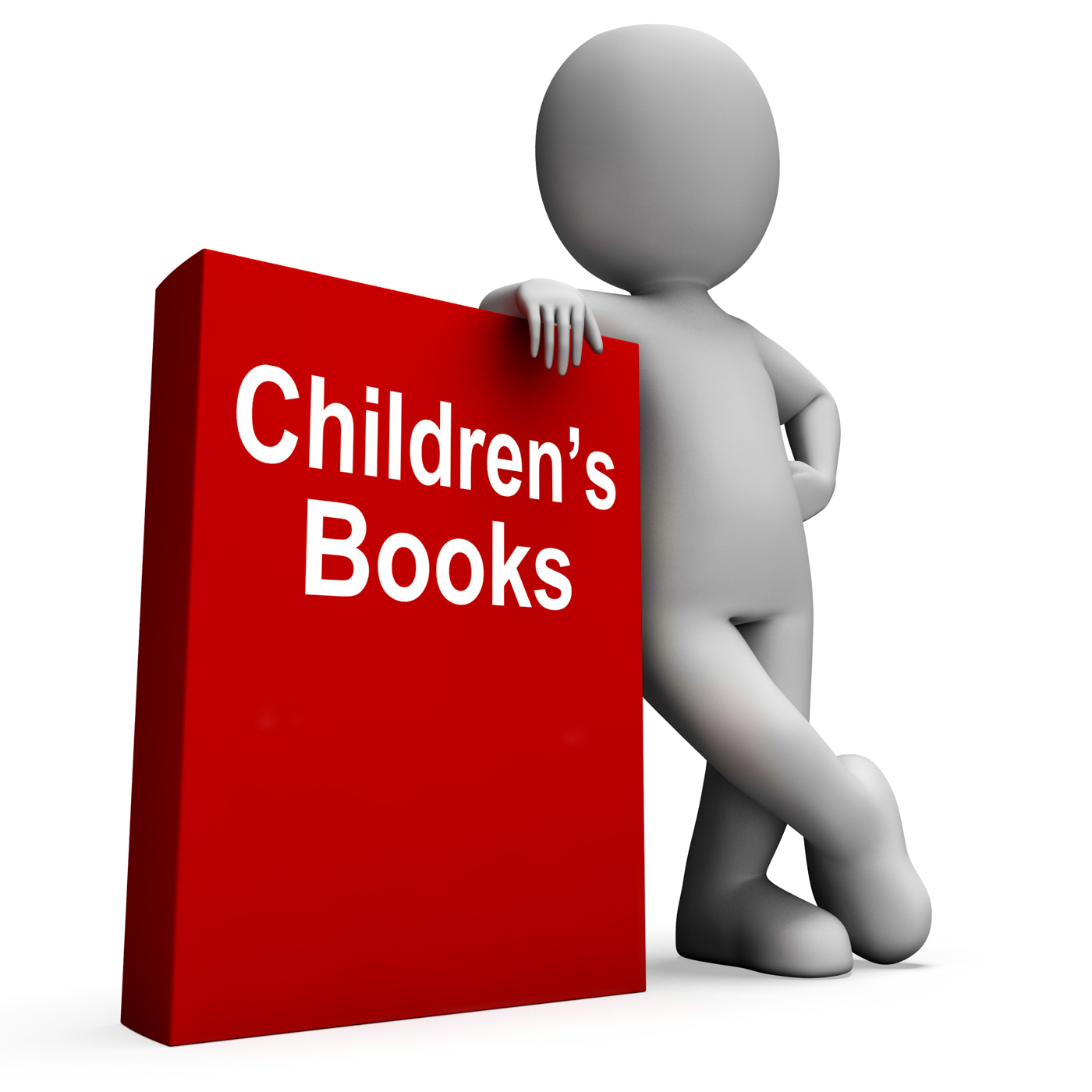 Childrens book and character shows reading for kids photo