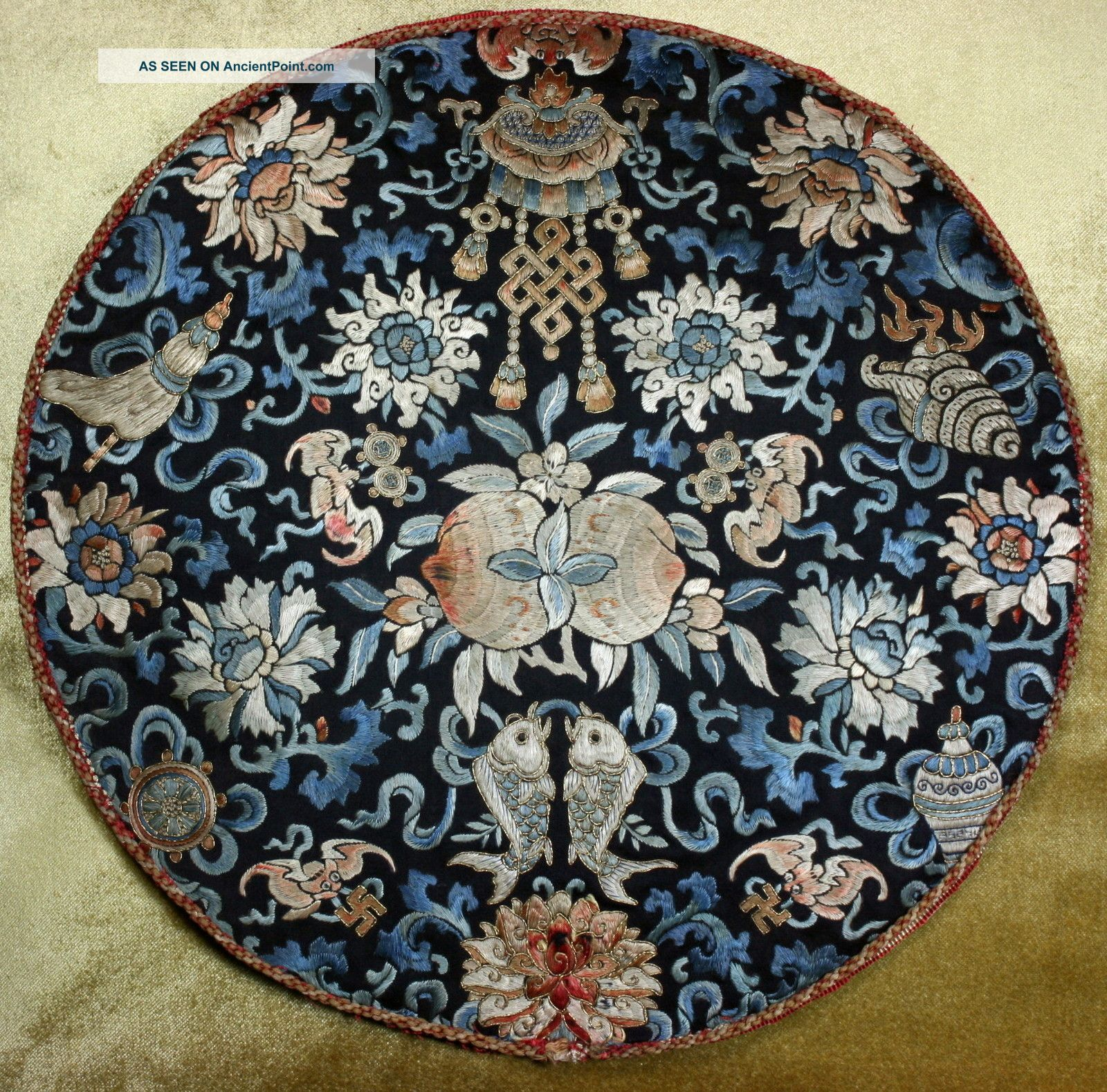 Chinese antique embroidery photo