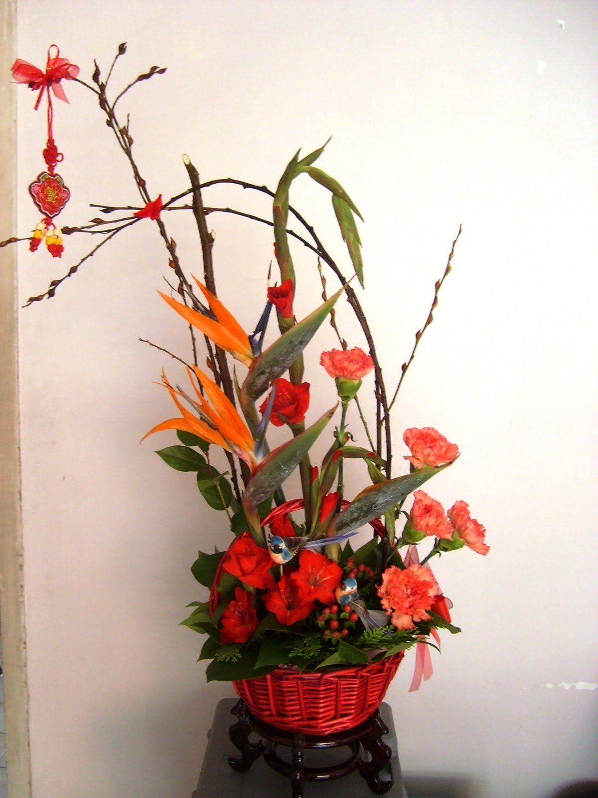 Chinese flower arrangement photo