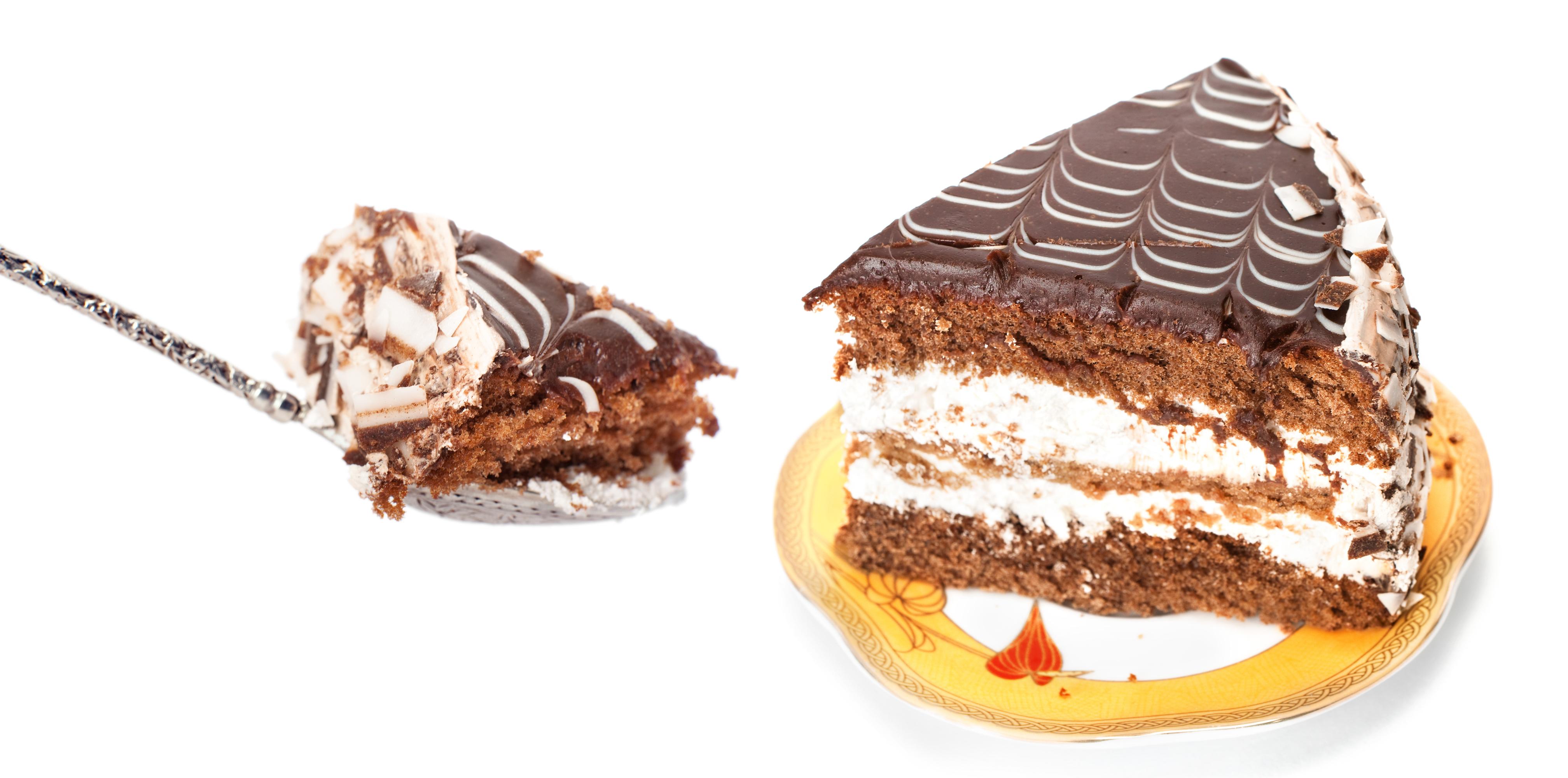 Chocolate cream cake photo