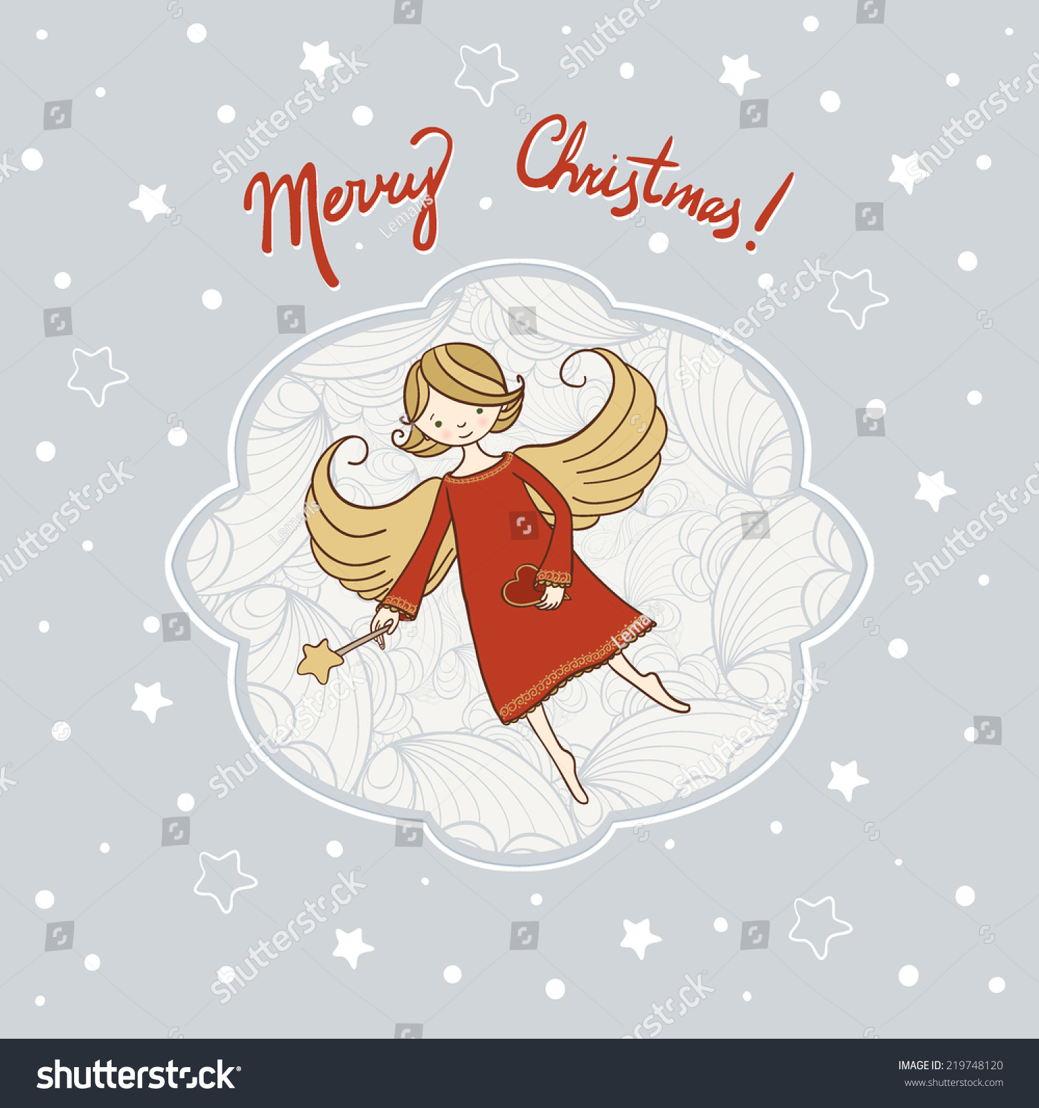 Vector Illustration Christmas Angel Can Be Stock Vector HD (Royalty ...