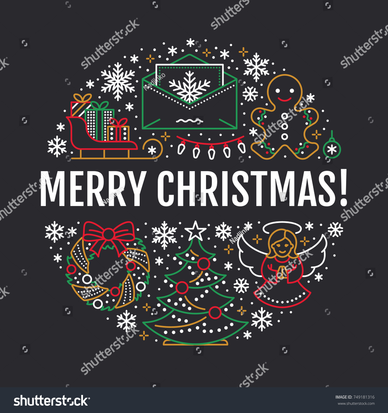 Christmas New Year Banner Illustration Vector Stock Vector HD ...
