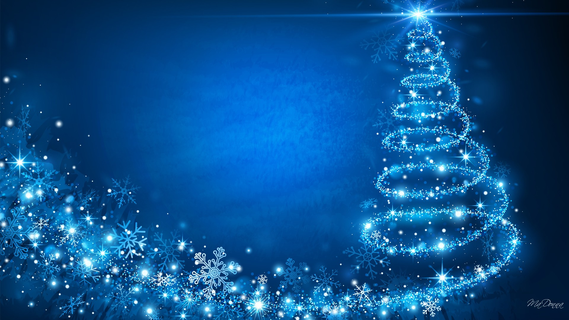 Blue Christmas Background HD Wallpaper, Background Images