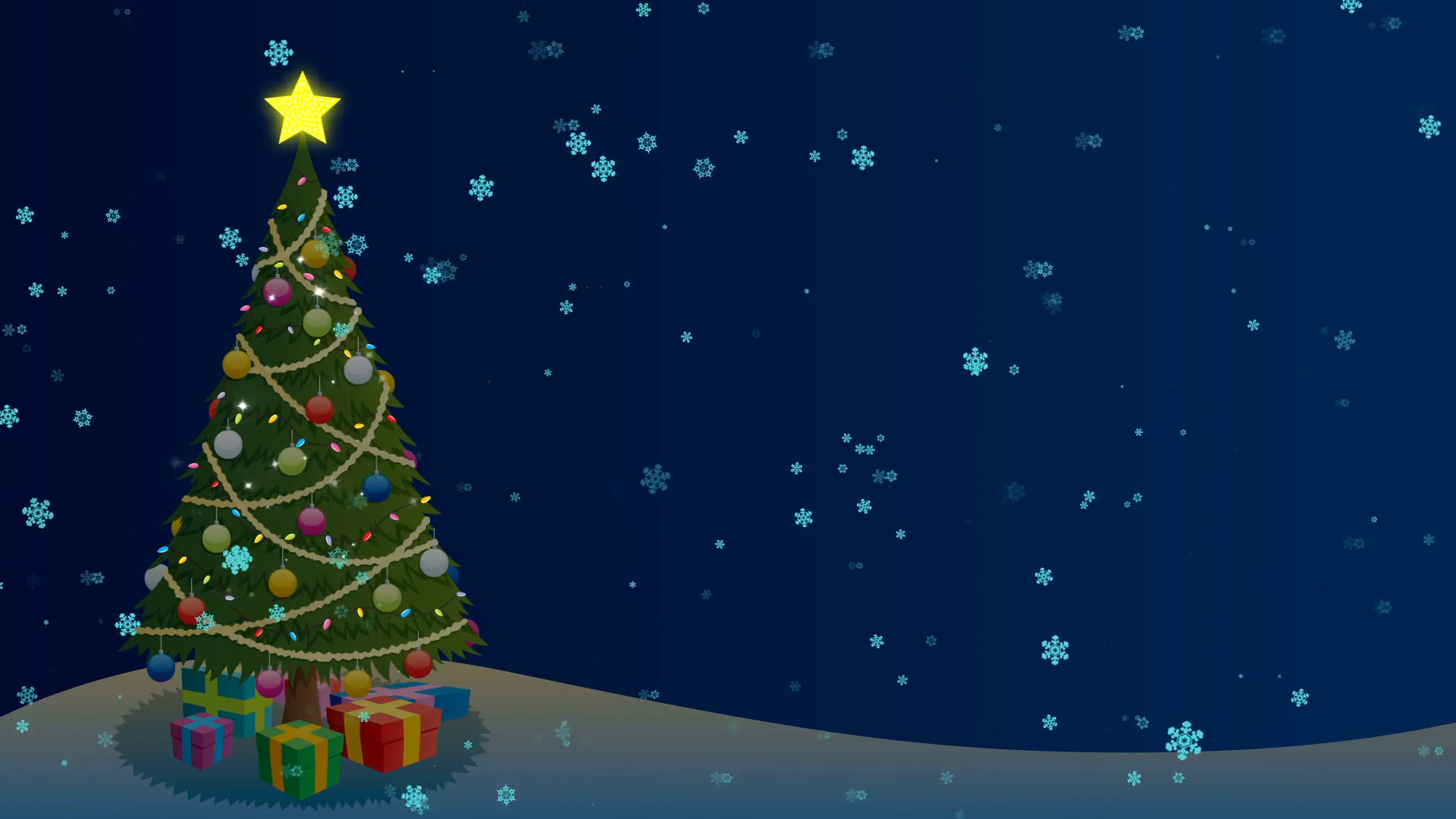Christmas Tree Background: Cartoon Christmas background with ...