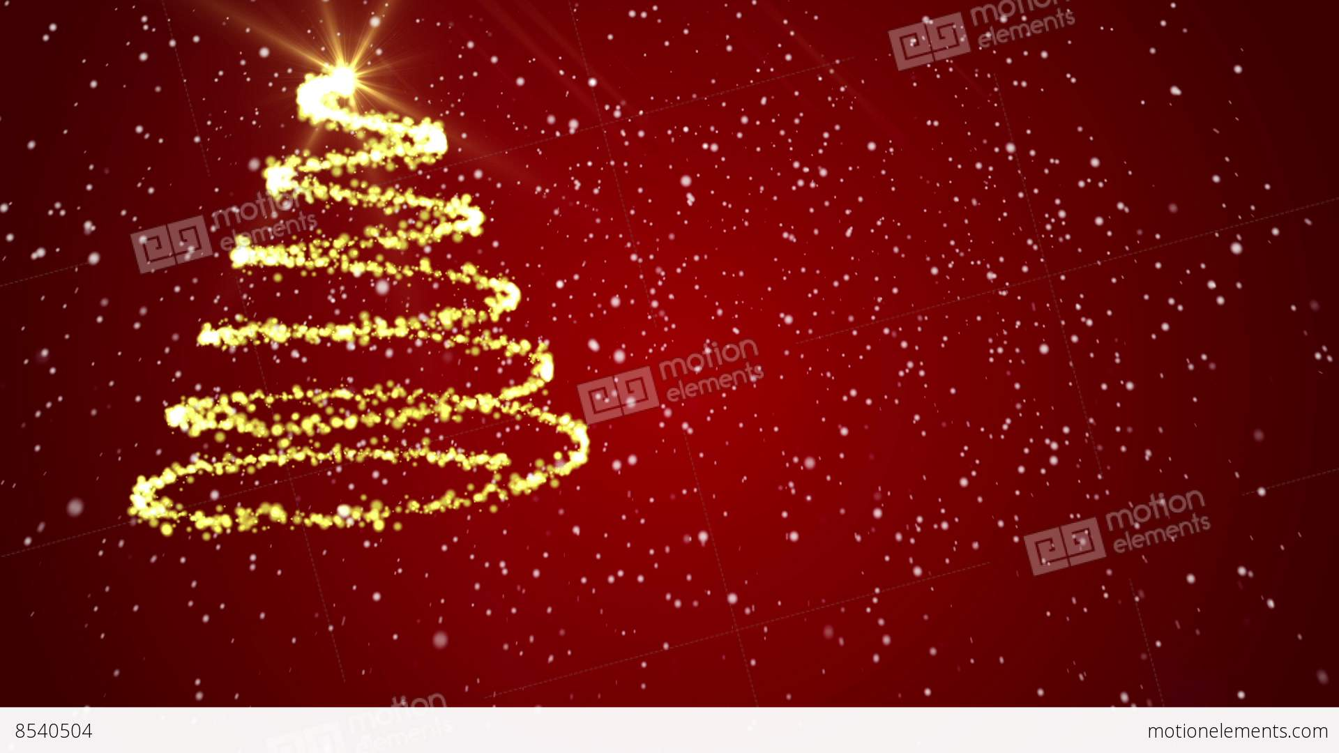Merry Christmas Background Red Backgrounds Stock video footage | 8540504