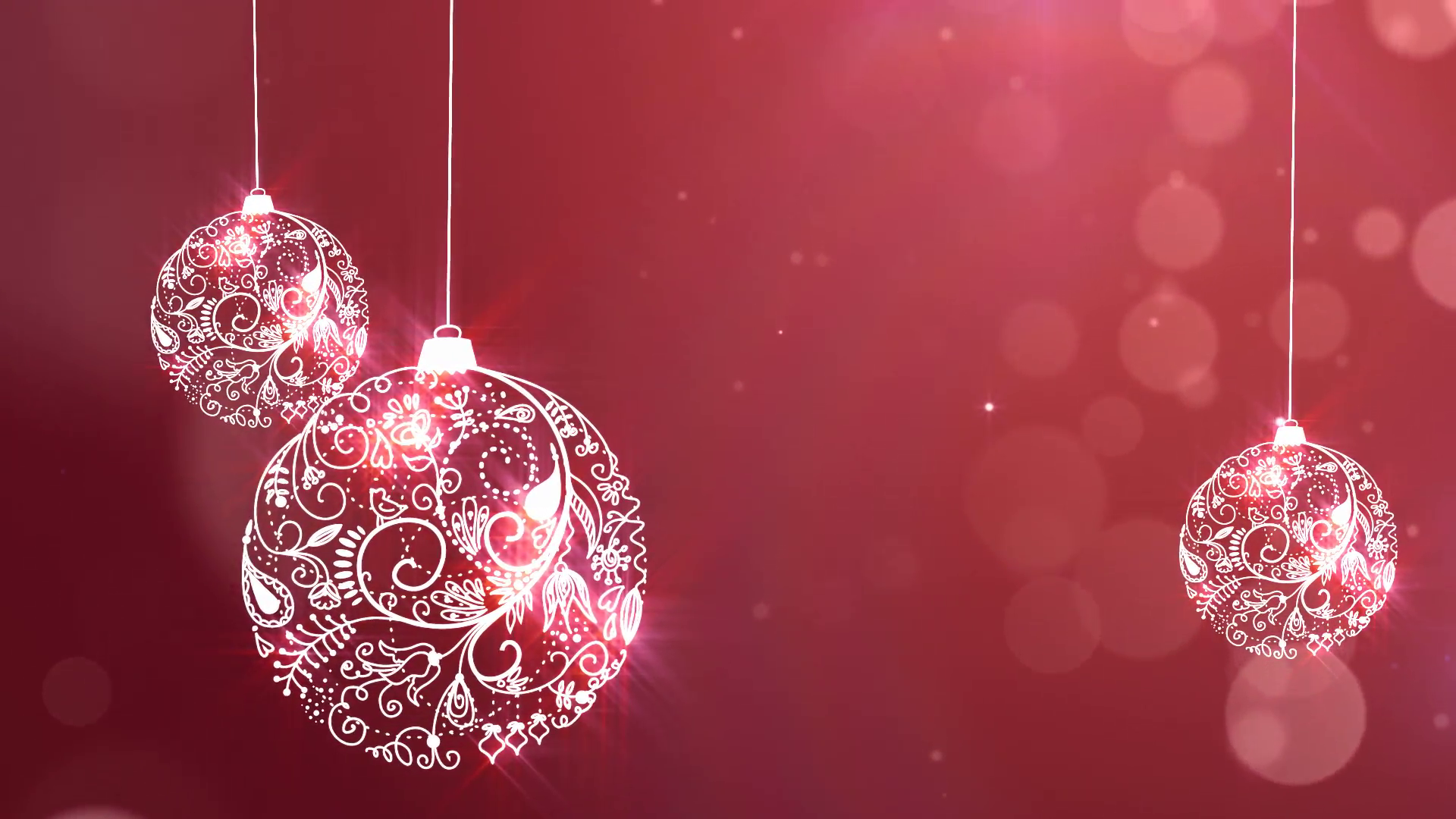 Merry Christmas Background with Ornaments Motion Background ...