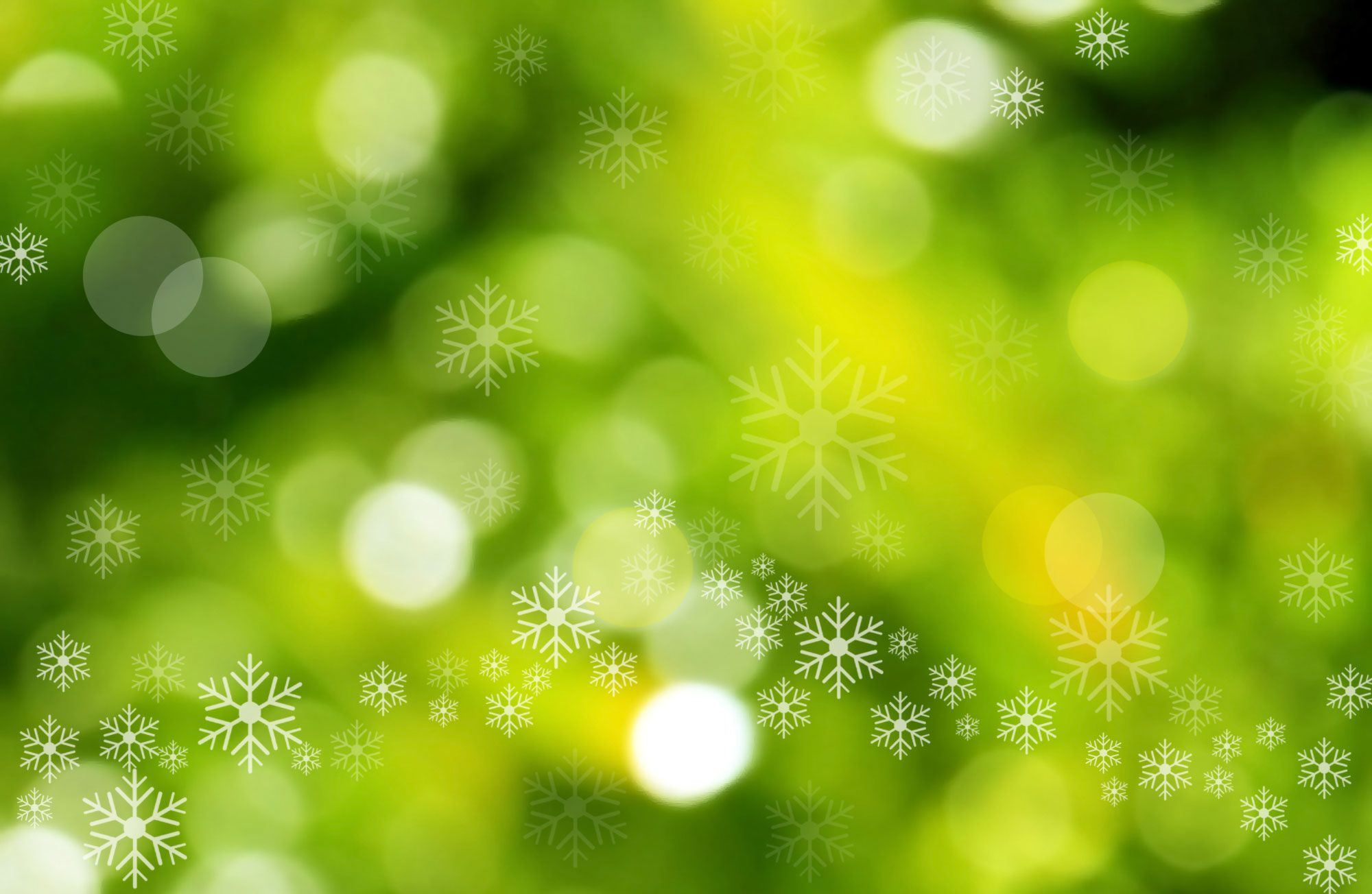 Christmas Backgrounds | Green Christmas Background with Bokeh and ...