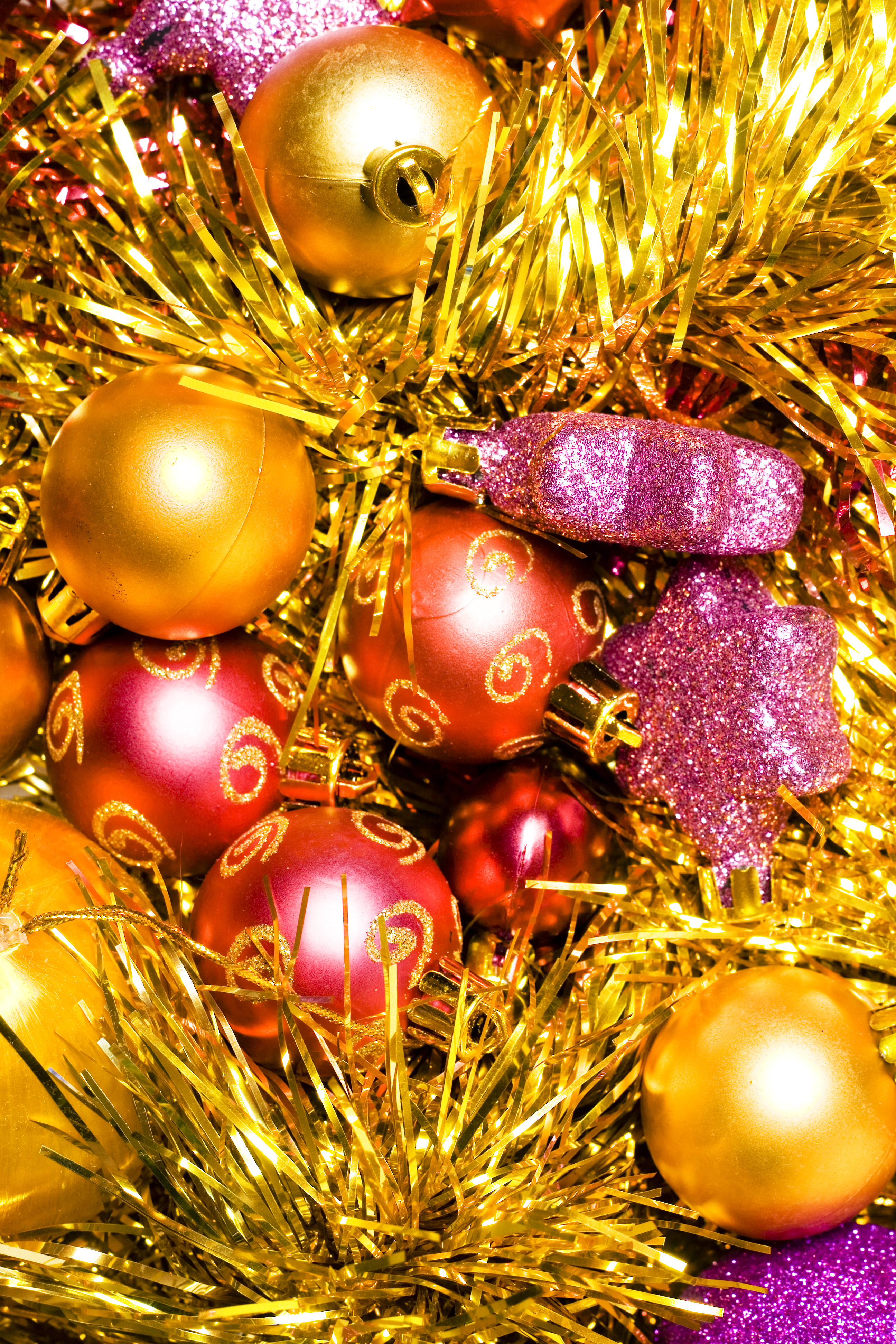christmas background, Holiday, Gold, Group, Isolated, HQ Photo