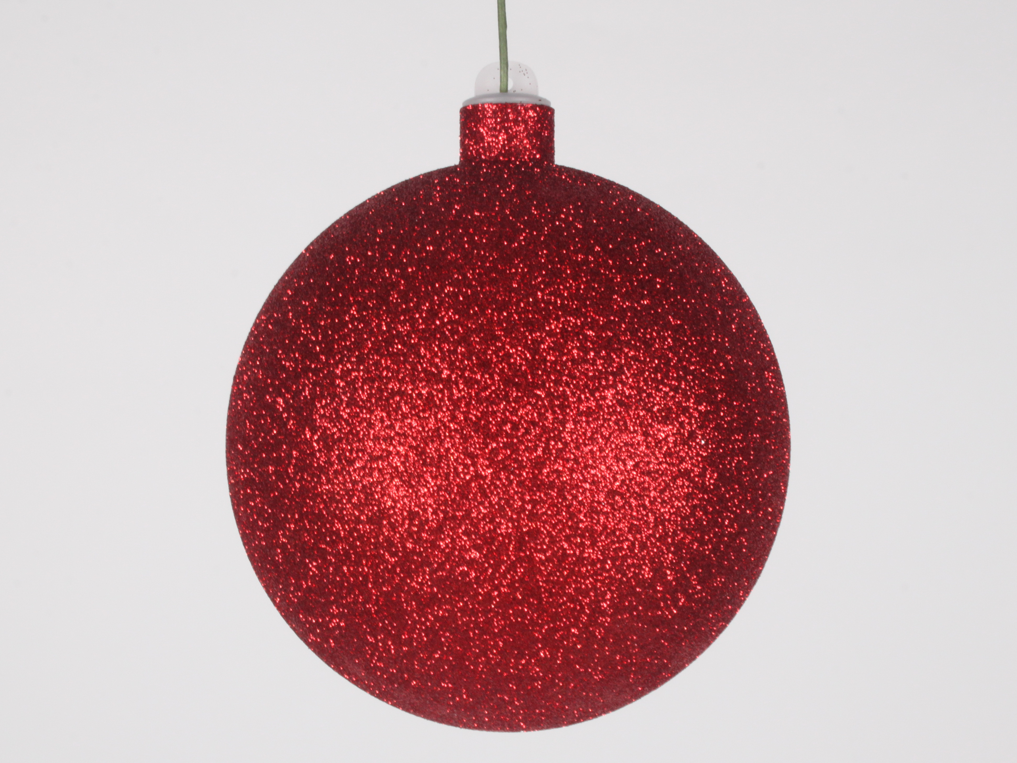 Red christmas balls photo