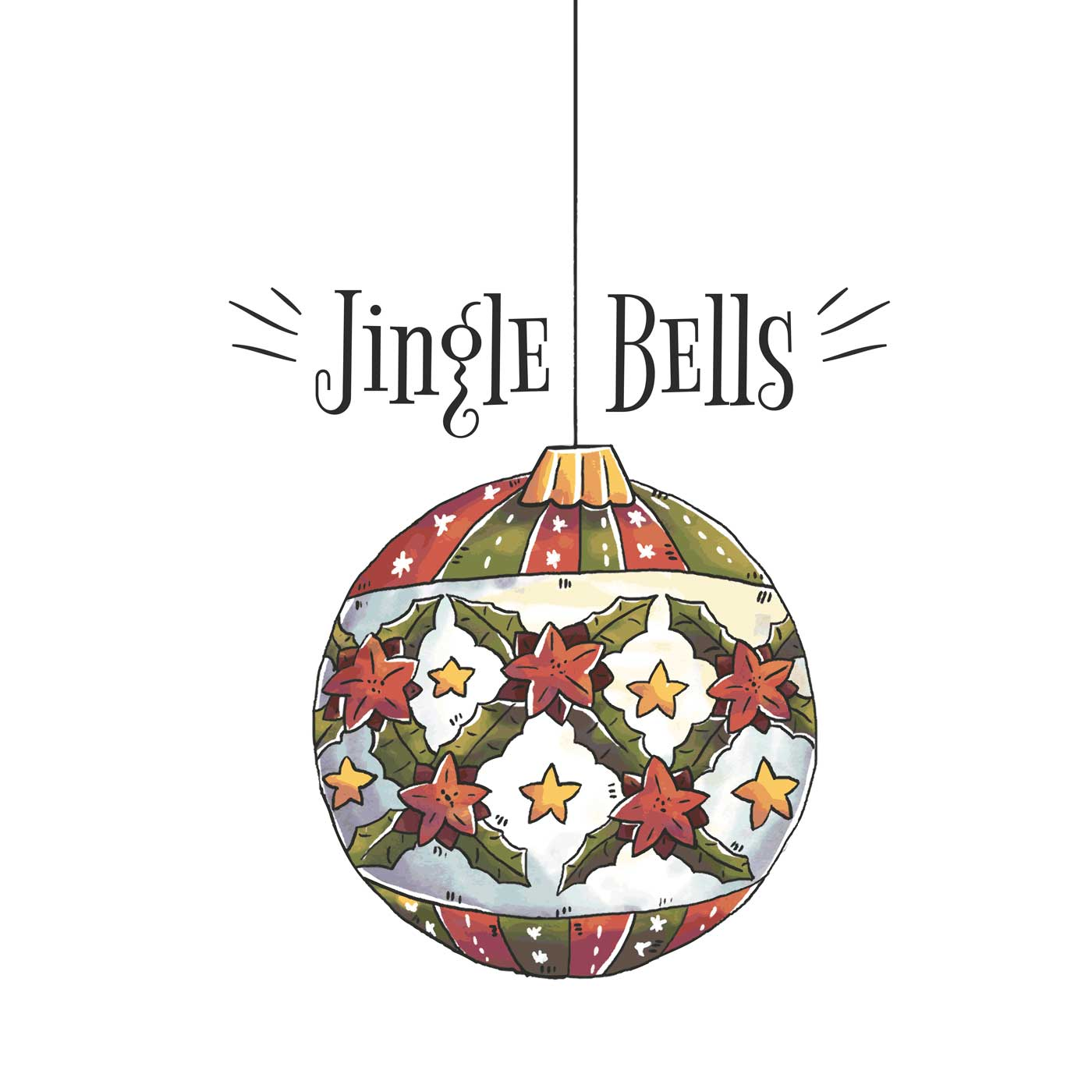 Ornament Christmas Ball With Christmas Quote - Download Free Vector ...