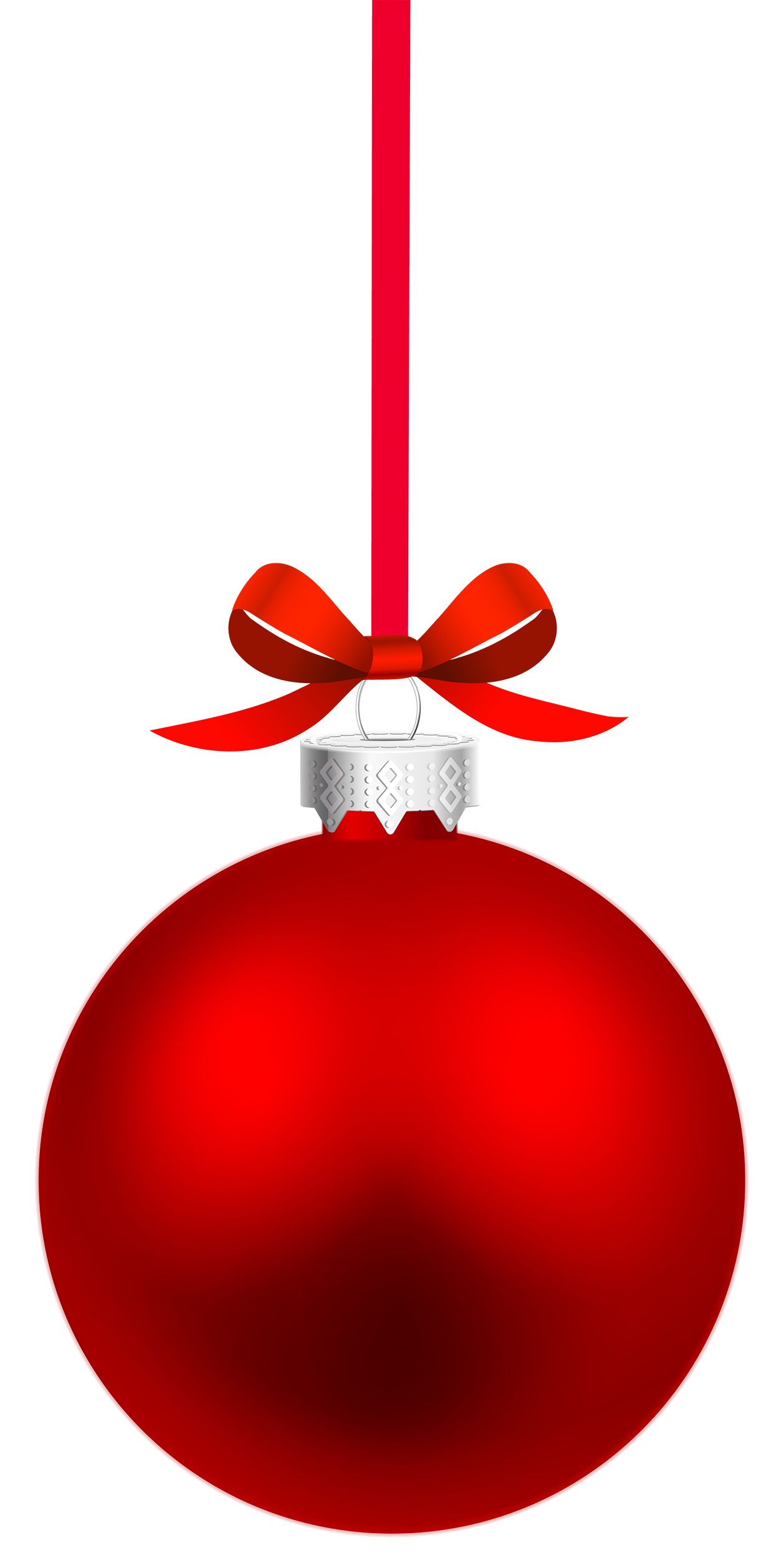 Red Hanging Christmas Ball PNG Clipart - Best WEB Clipart