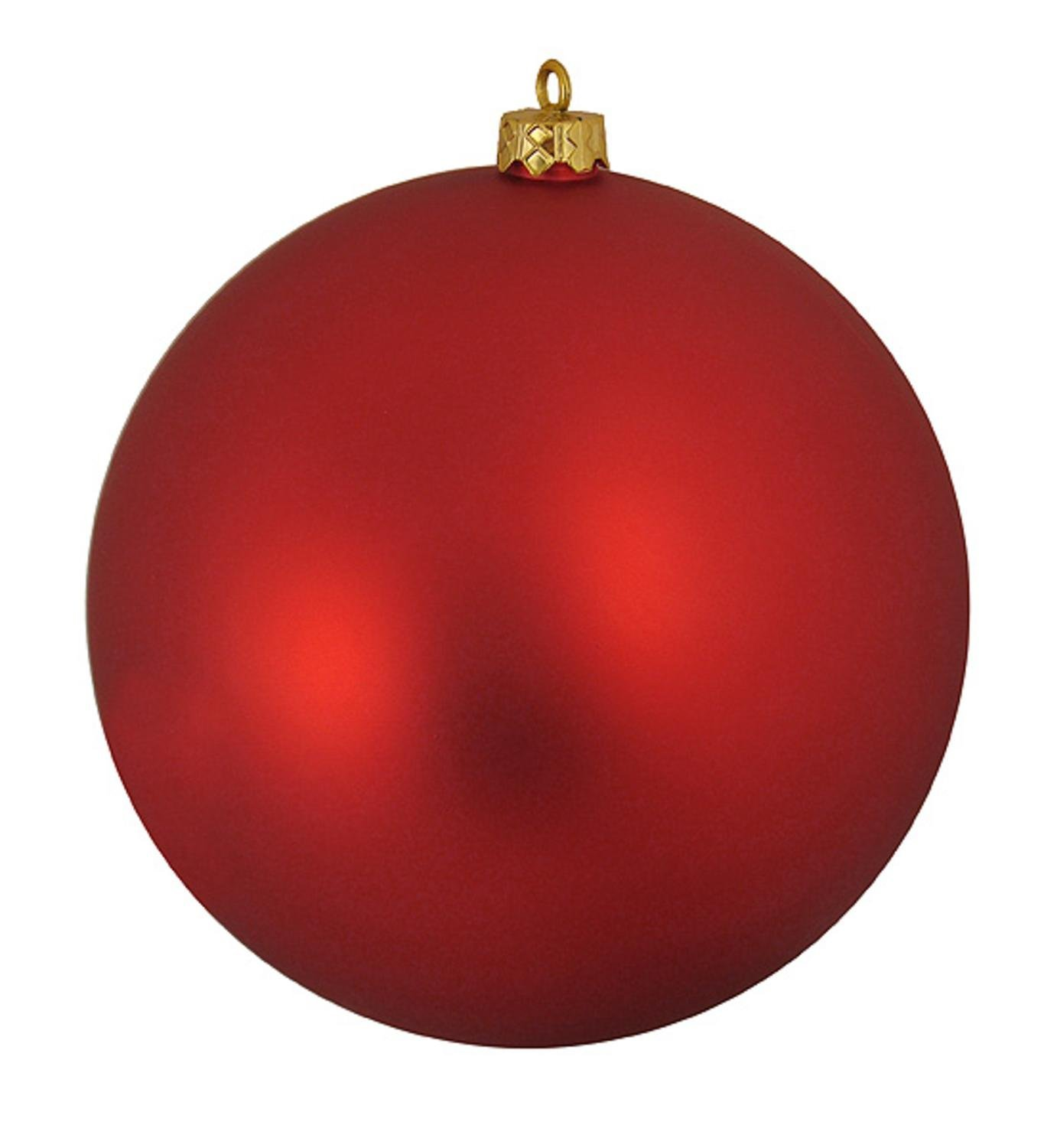 Amazon.com: Matte Red Hot Commercial Shatterproof Christmas Ball ...