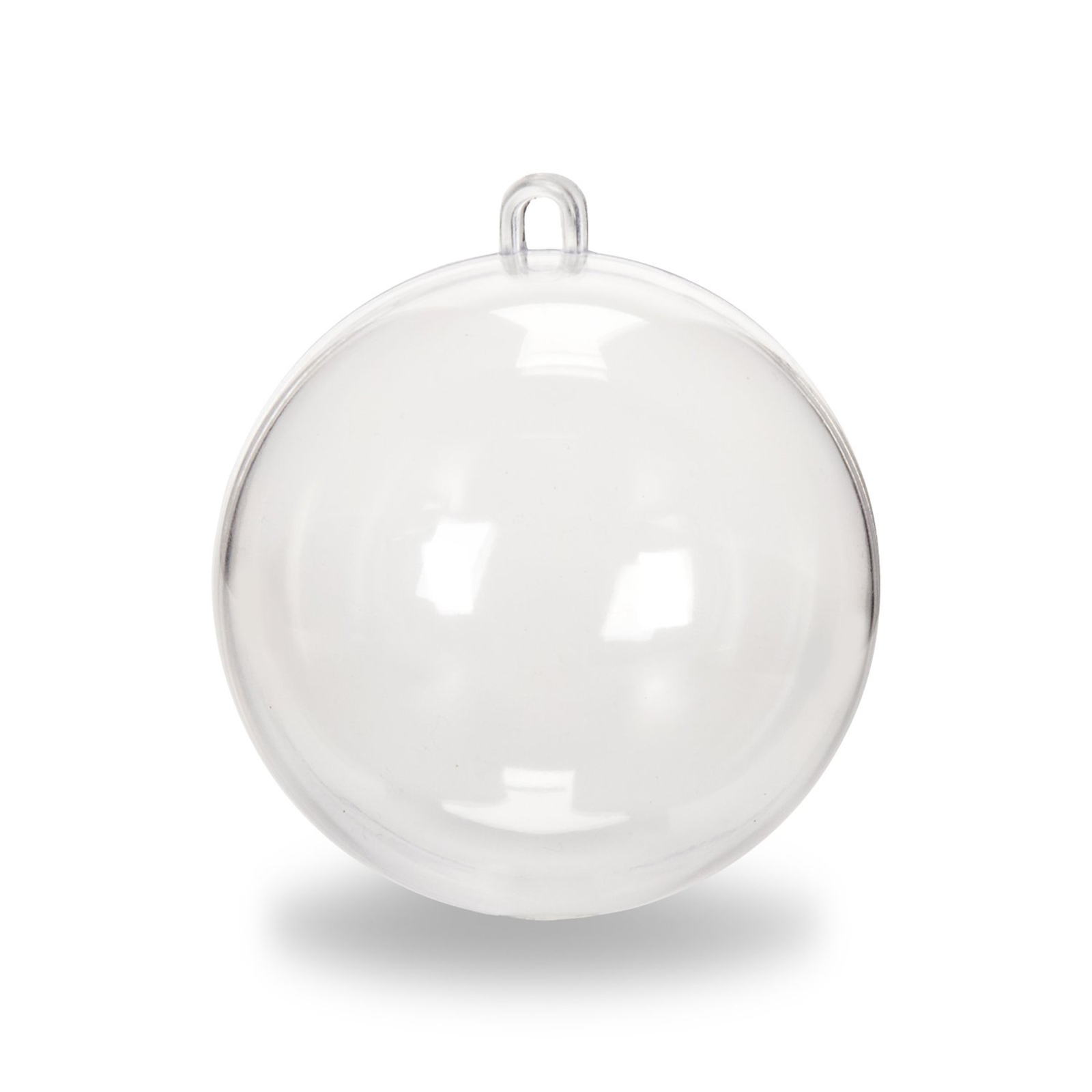 Clear Plastic Fillable Christmas Ball Ornaments Circle Spheres Candy ...