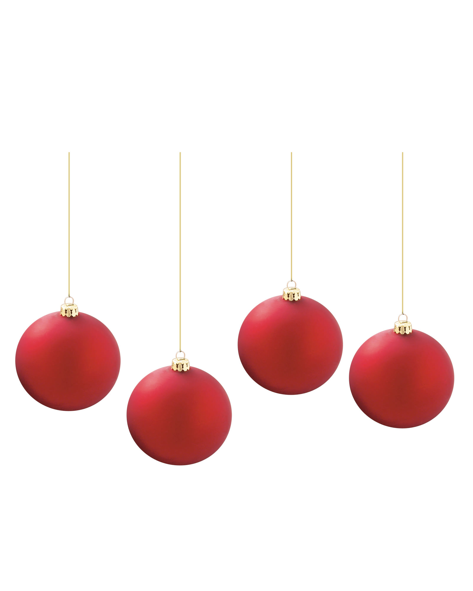 Plain Jane Red Christmas Ball Ornaments | Treetopia