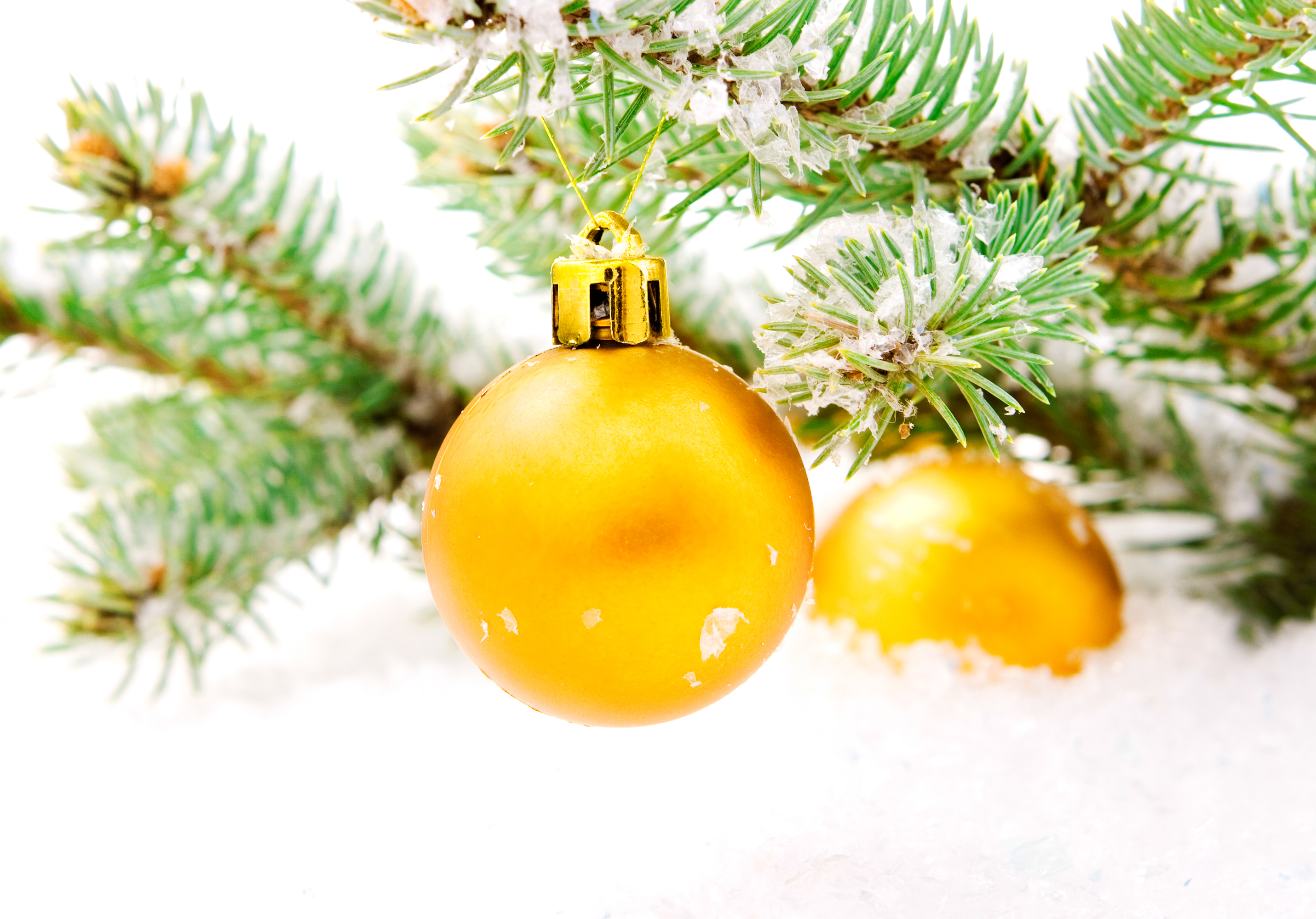 christmas balls, Year, Decorative, Xmas, White, HQ Photo