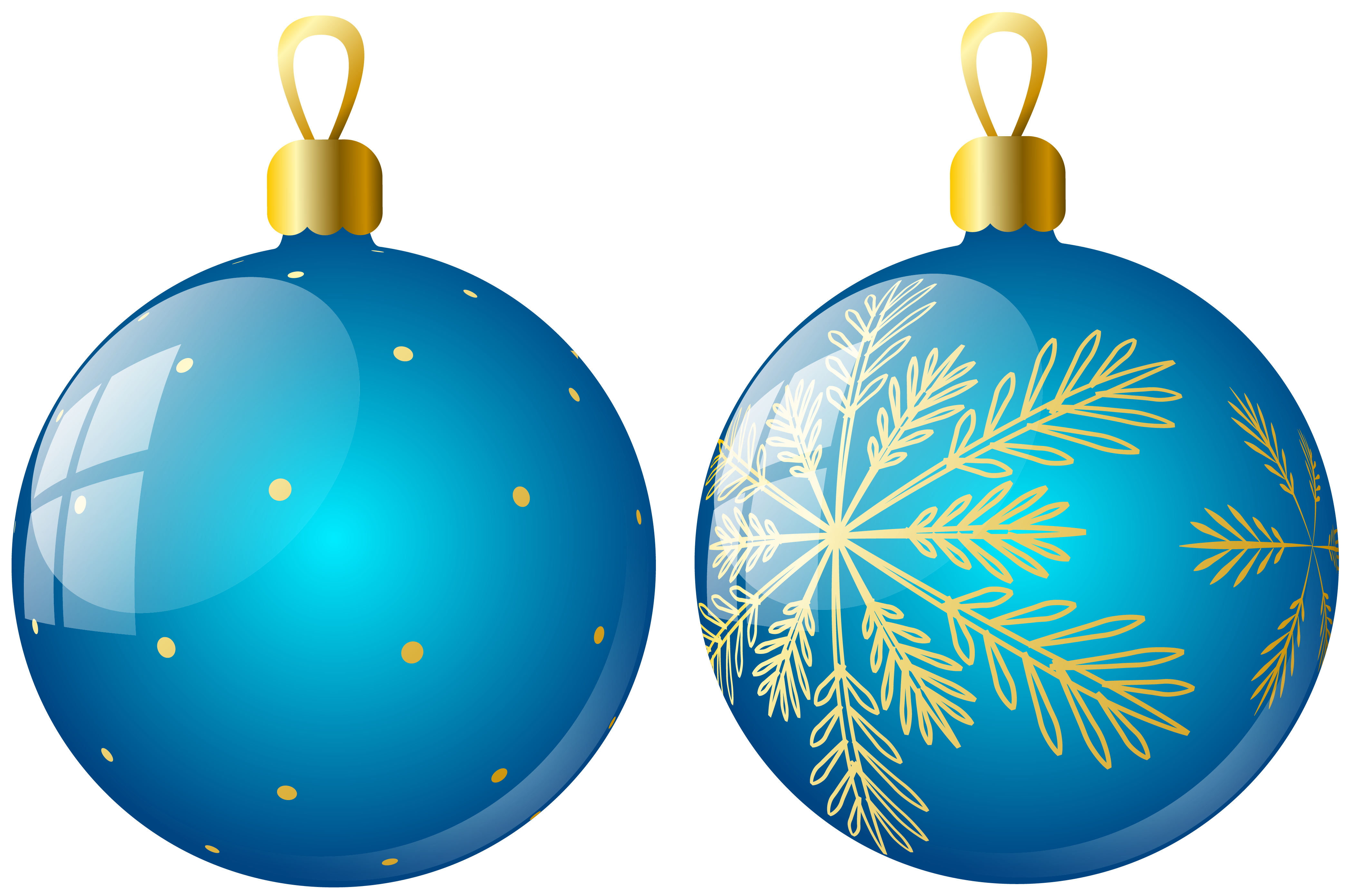 Transparent Two Blue Christmas Balls Ornaments Clipart | Gallery ...