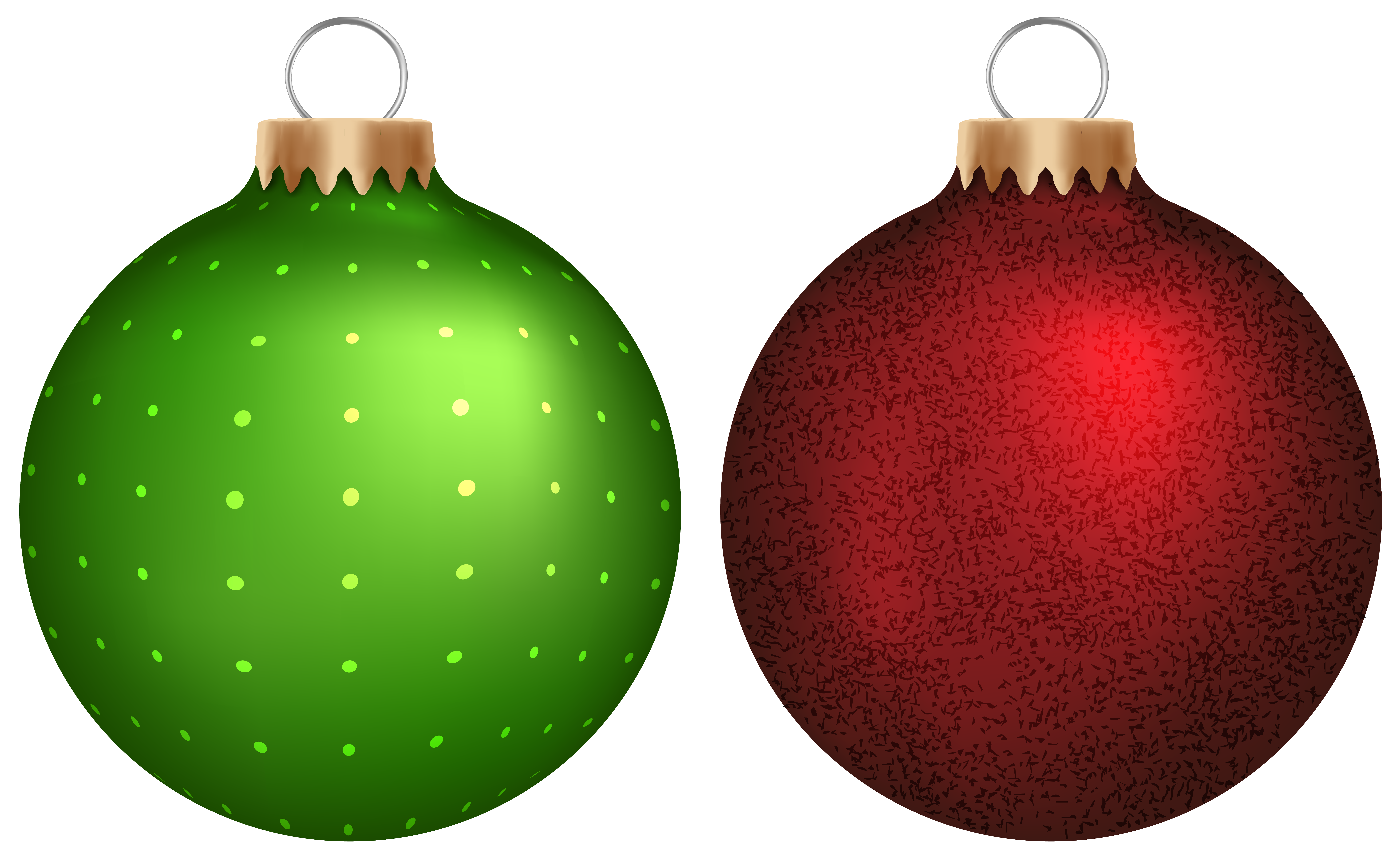 Green and Red Christmas Balls PNG Clip Art - Best WEB Clipart
