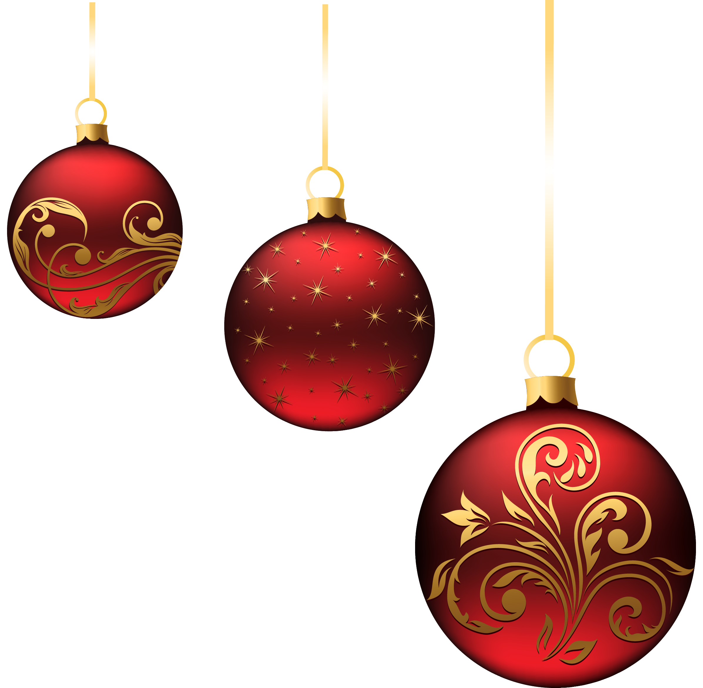 Decoration Christmas Ball Ornaments Red Balls Png Picture Projekty ...