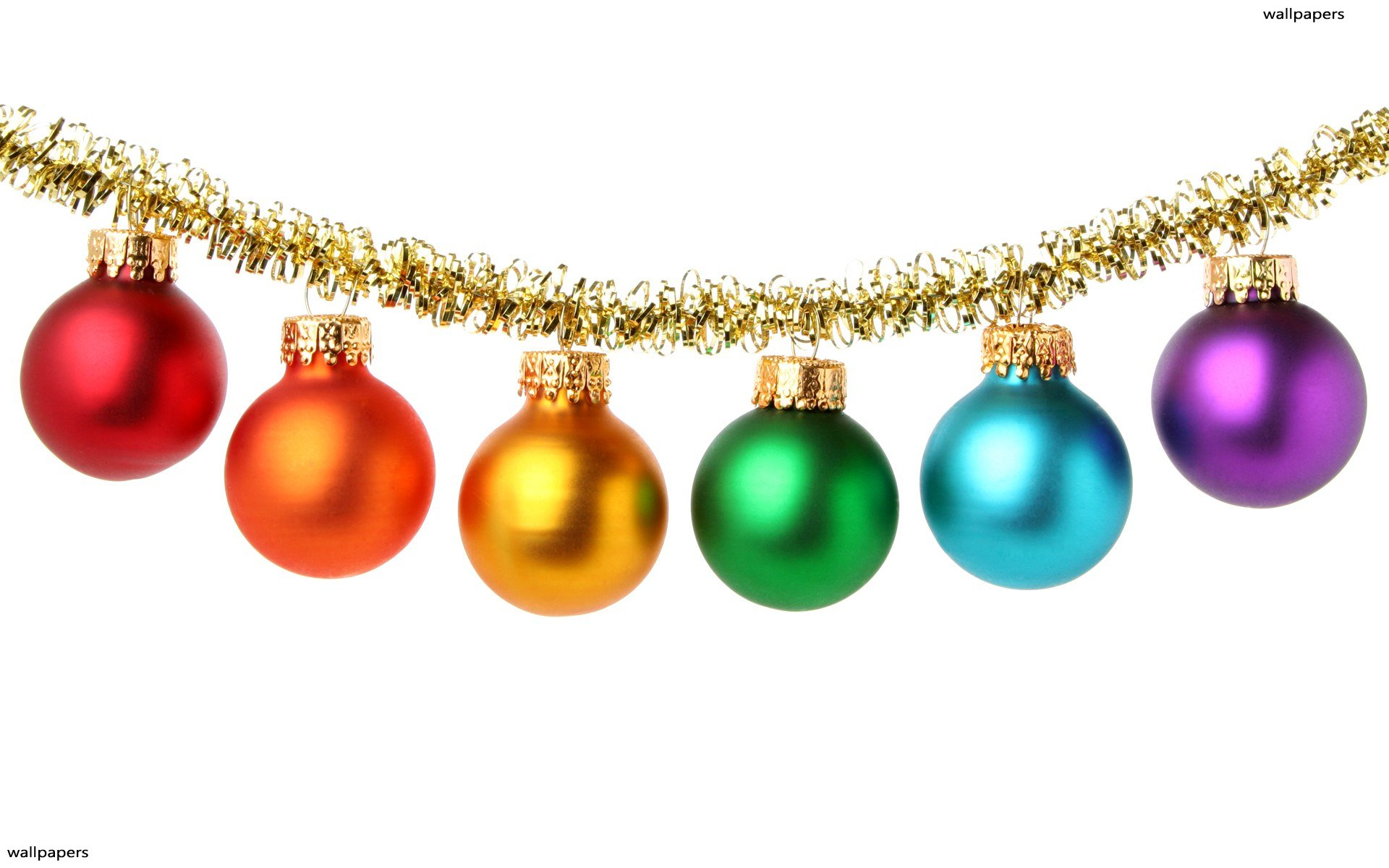 Christmas Balls HD Wallpaper