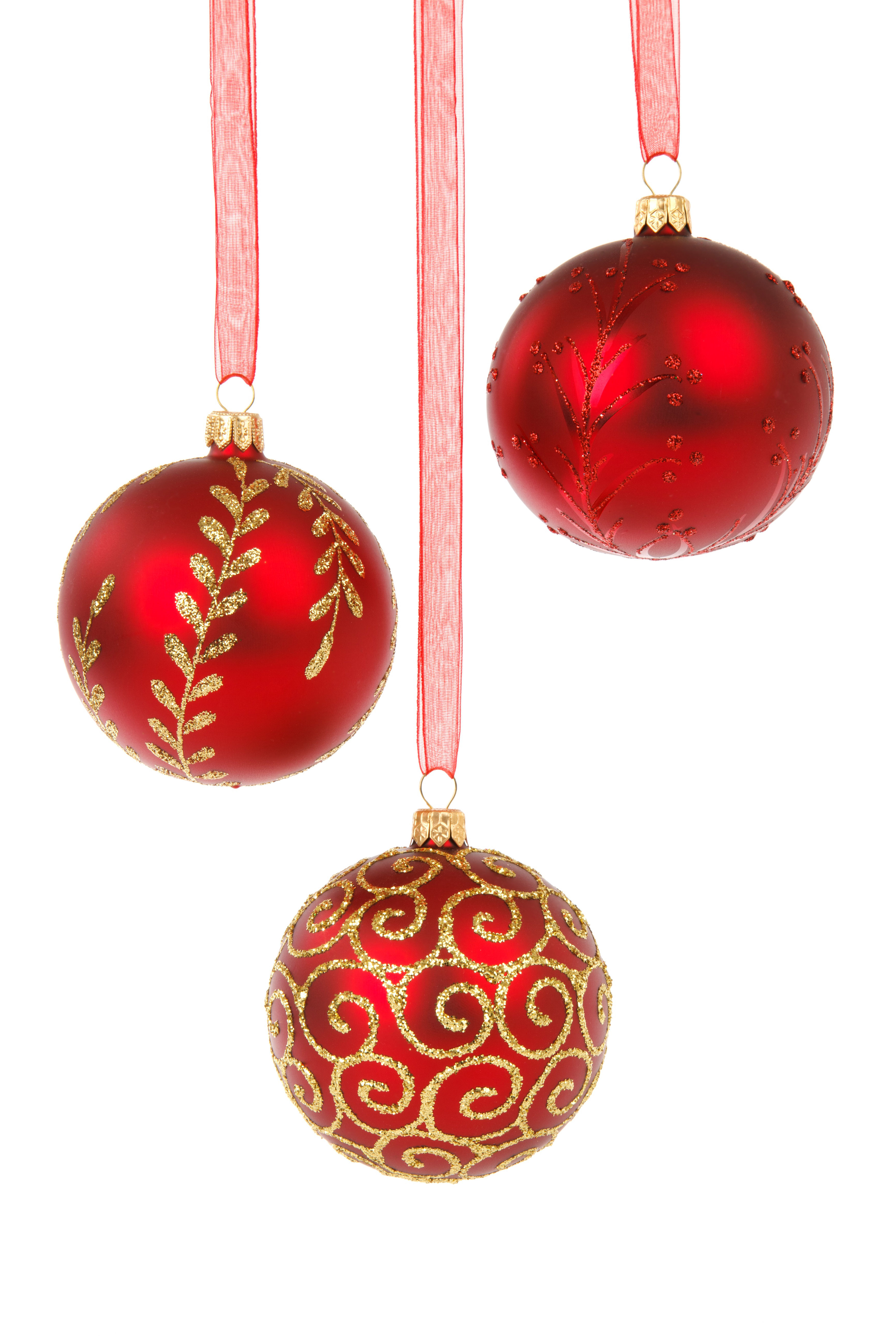 15 Assorted Christmas Ornaments On A White Background Www Christmas ...
