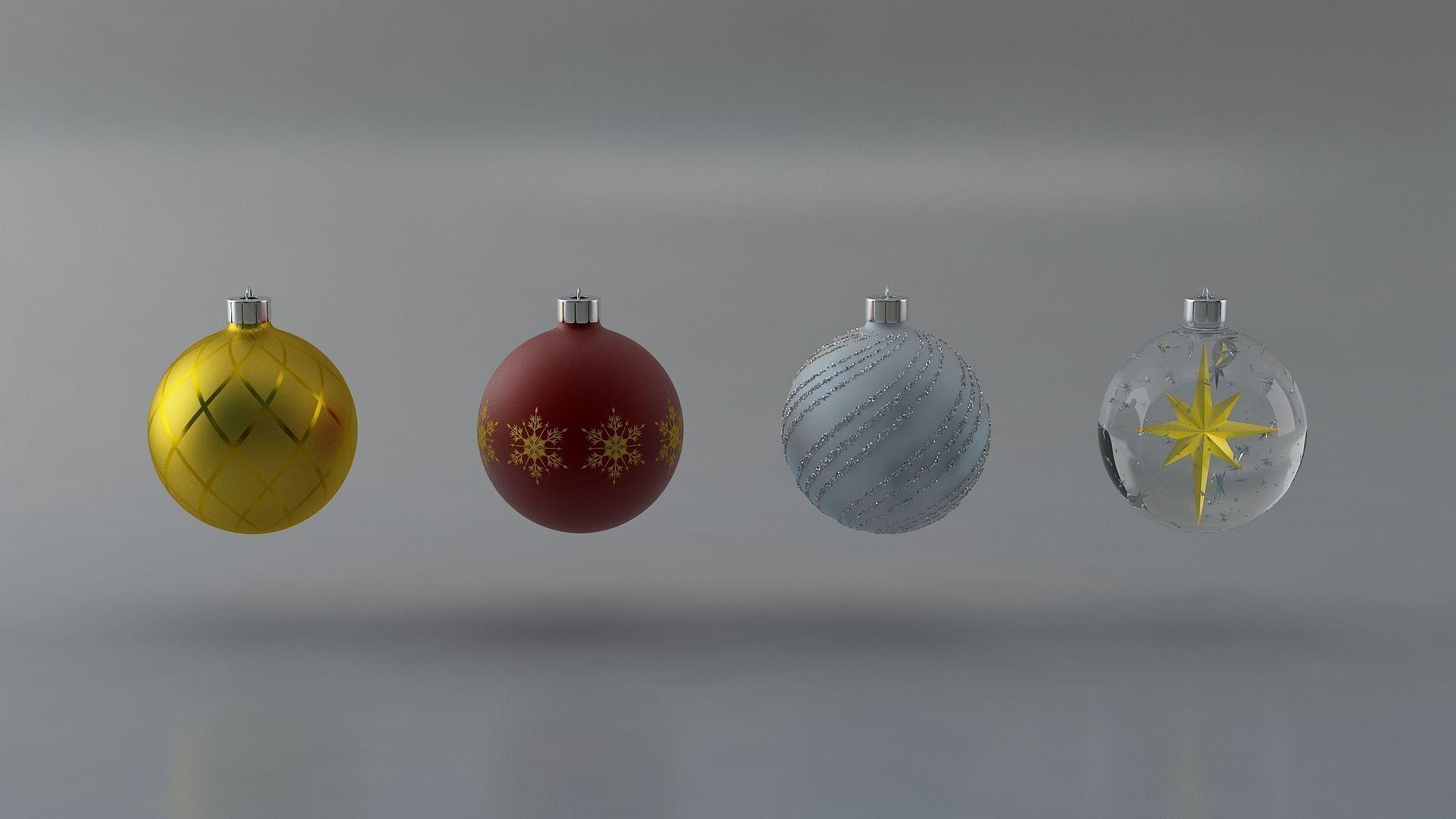 Christmas balls 3D | CGTrader