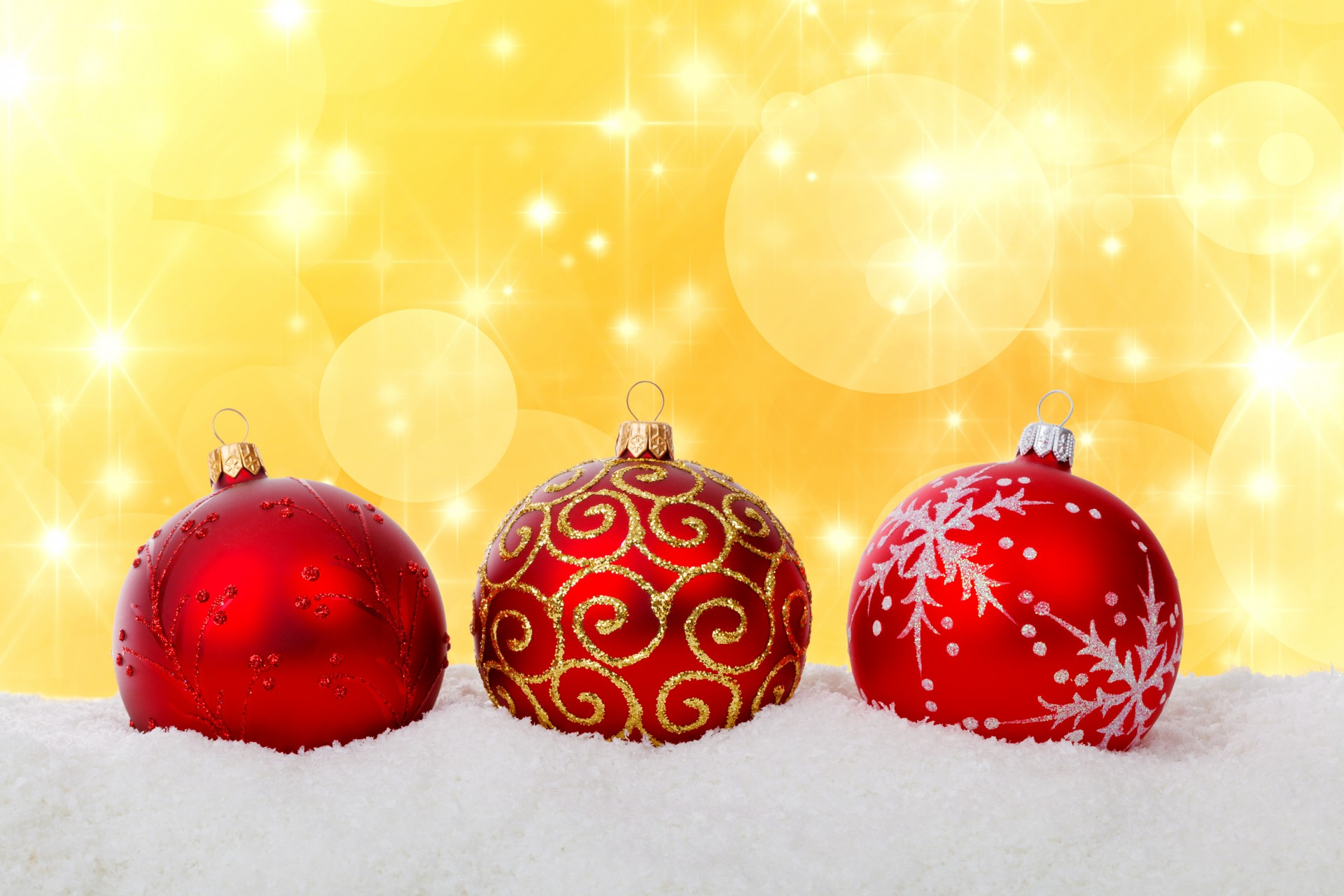 Red Christmas Balls In Snow Free Stock Photo - Public Domain Pictures