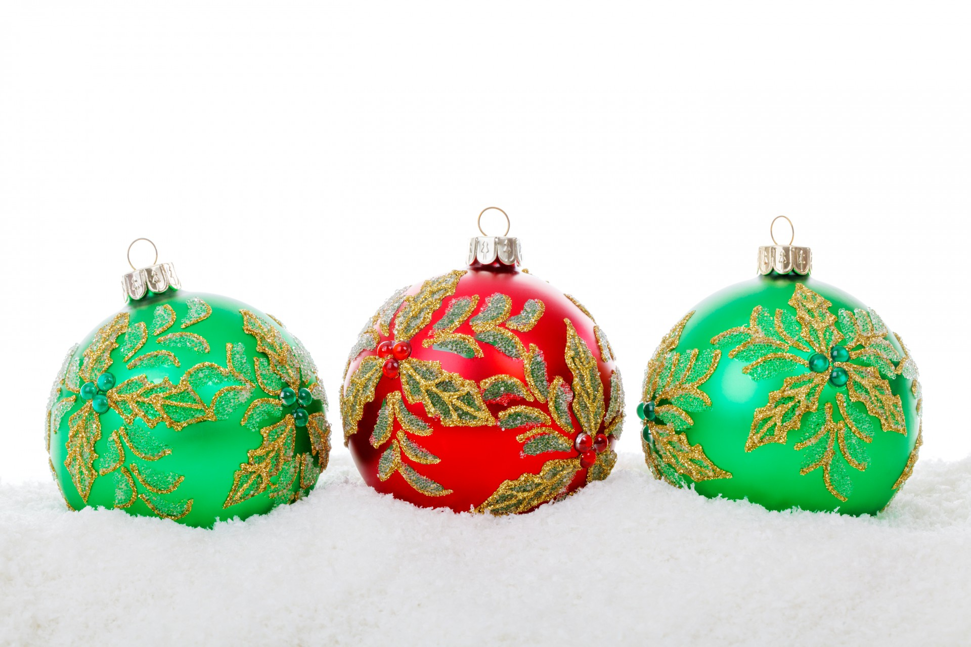 Red Green Christmas Balls Free Stock Photo - Public Domain Pictures