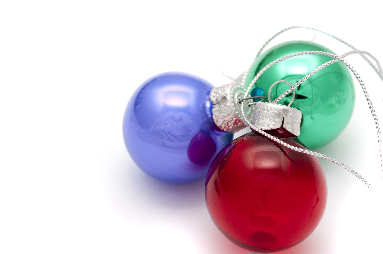 Photo of three christmas balls | Free christmas images