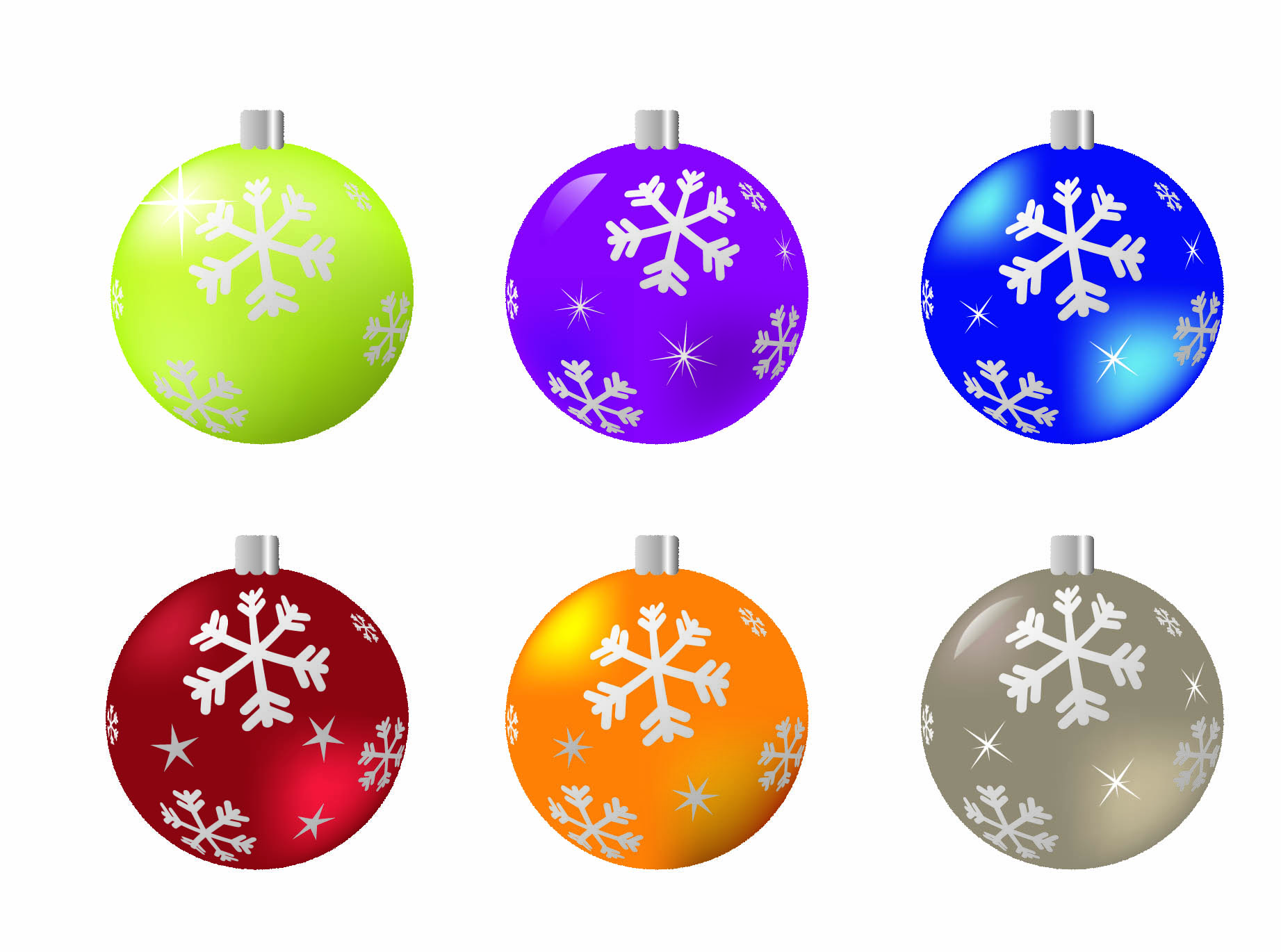 Beautiful christmas ball 04 vector Free Vector / 4Vector