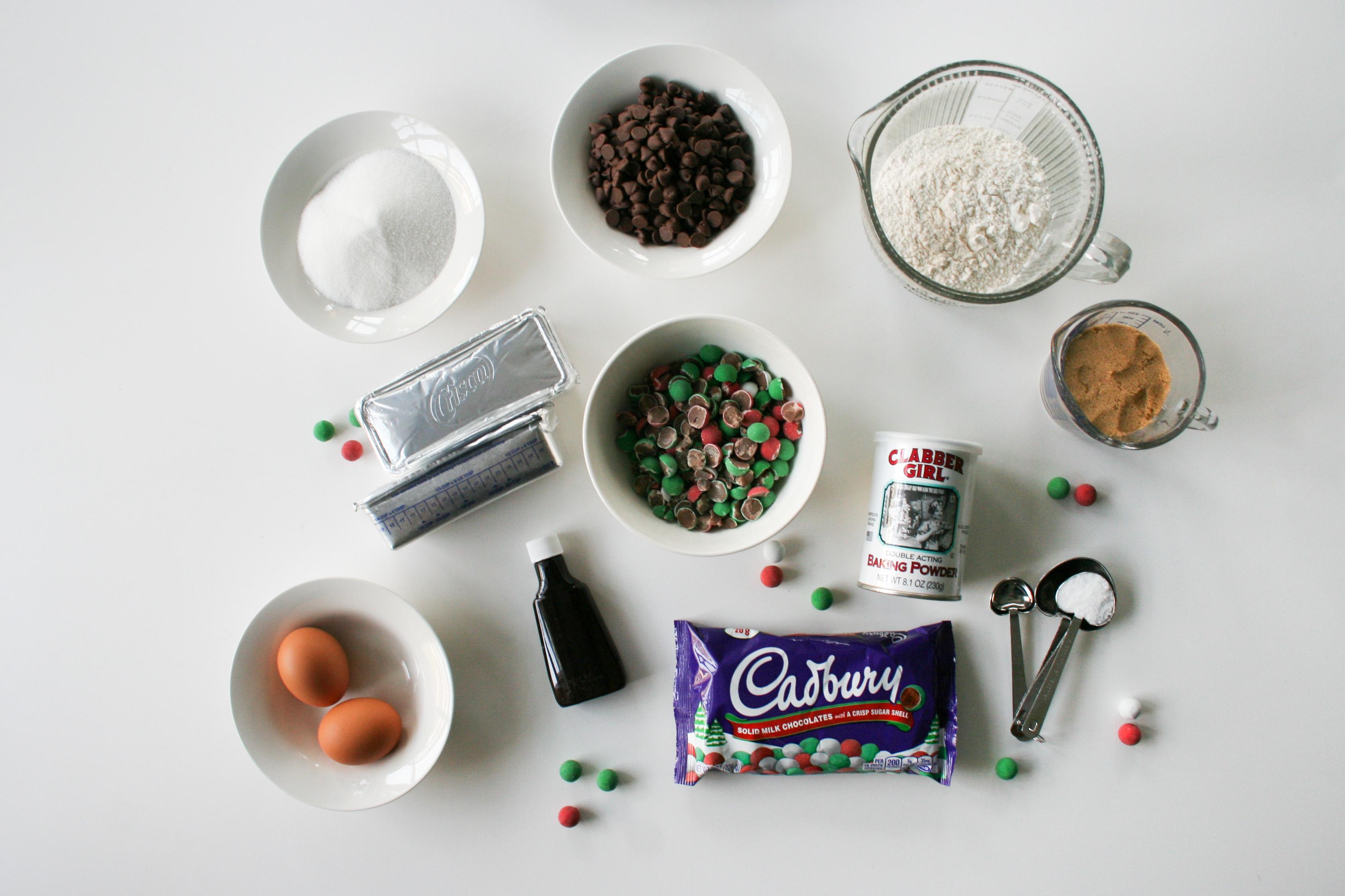 Cadbury Christmas Balls Chocolate Chip Cookies - Salty Canary