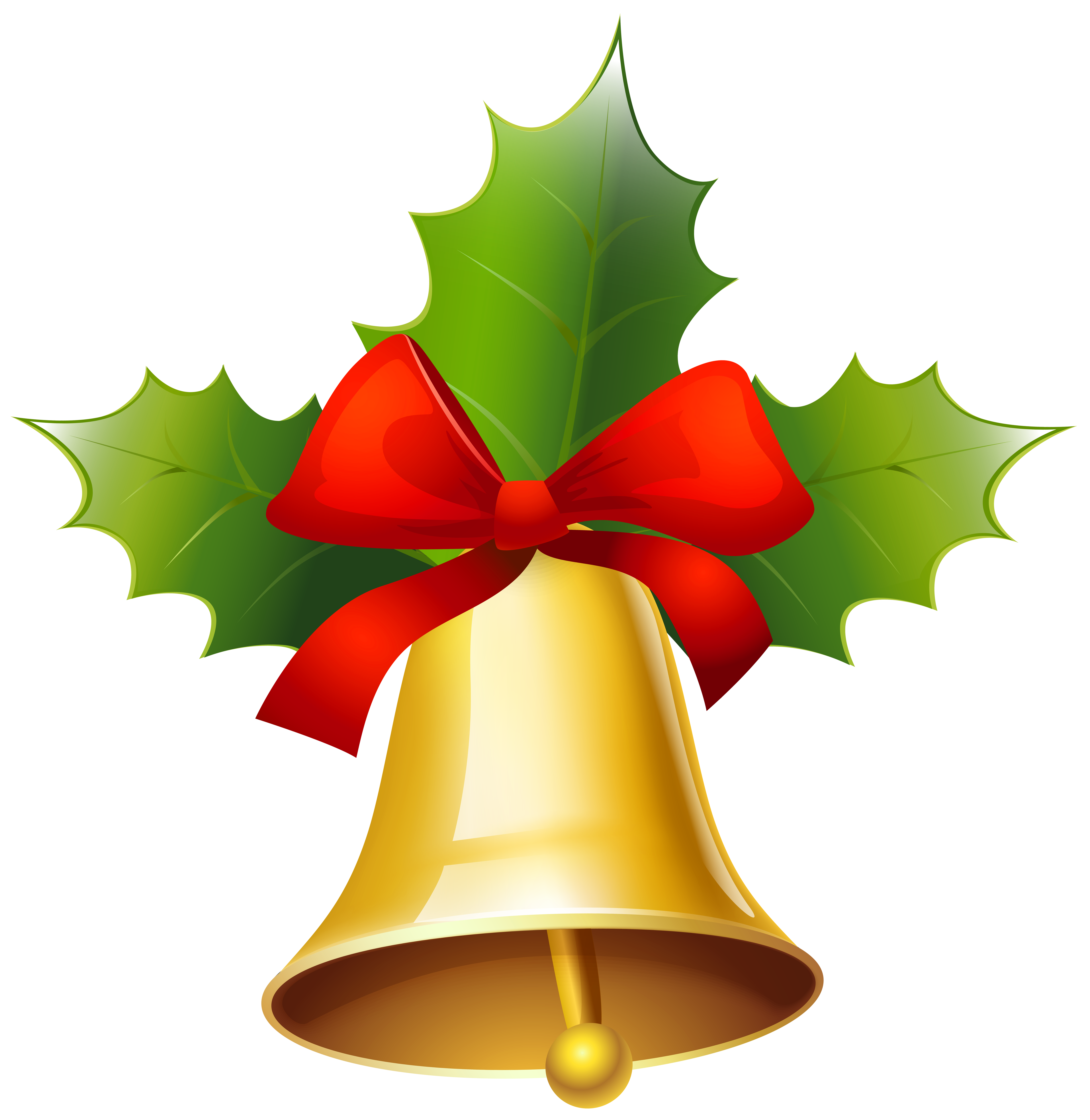 Golden Christmas Bell PNG Clipart Image   Gallery Yopriceville ...