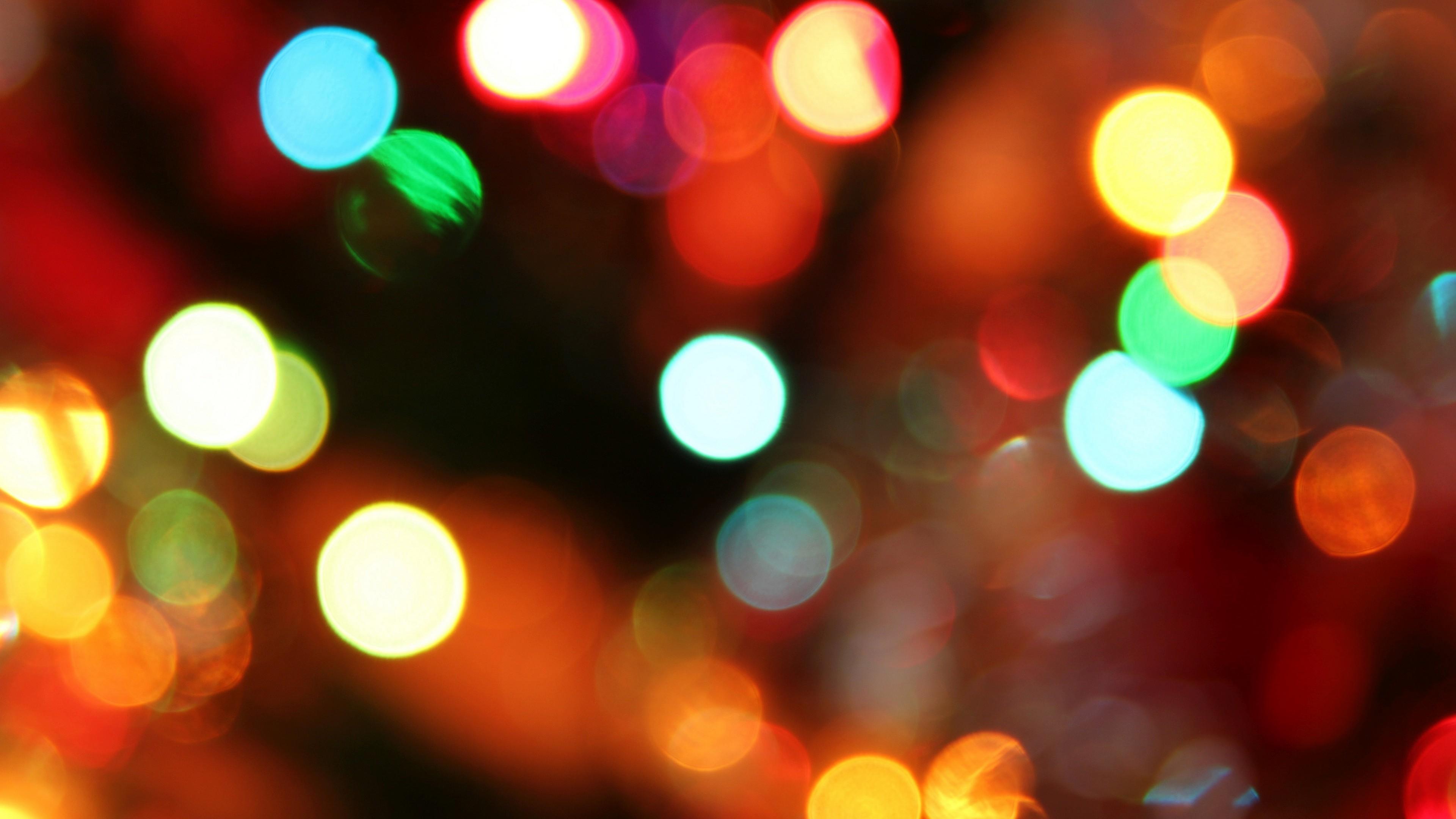 Christmas Lights Bokeh Wallpaper - Christmas - Free Desktop Backgrounds