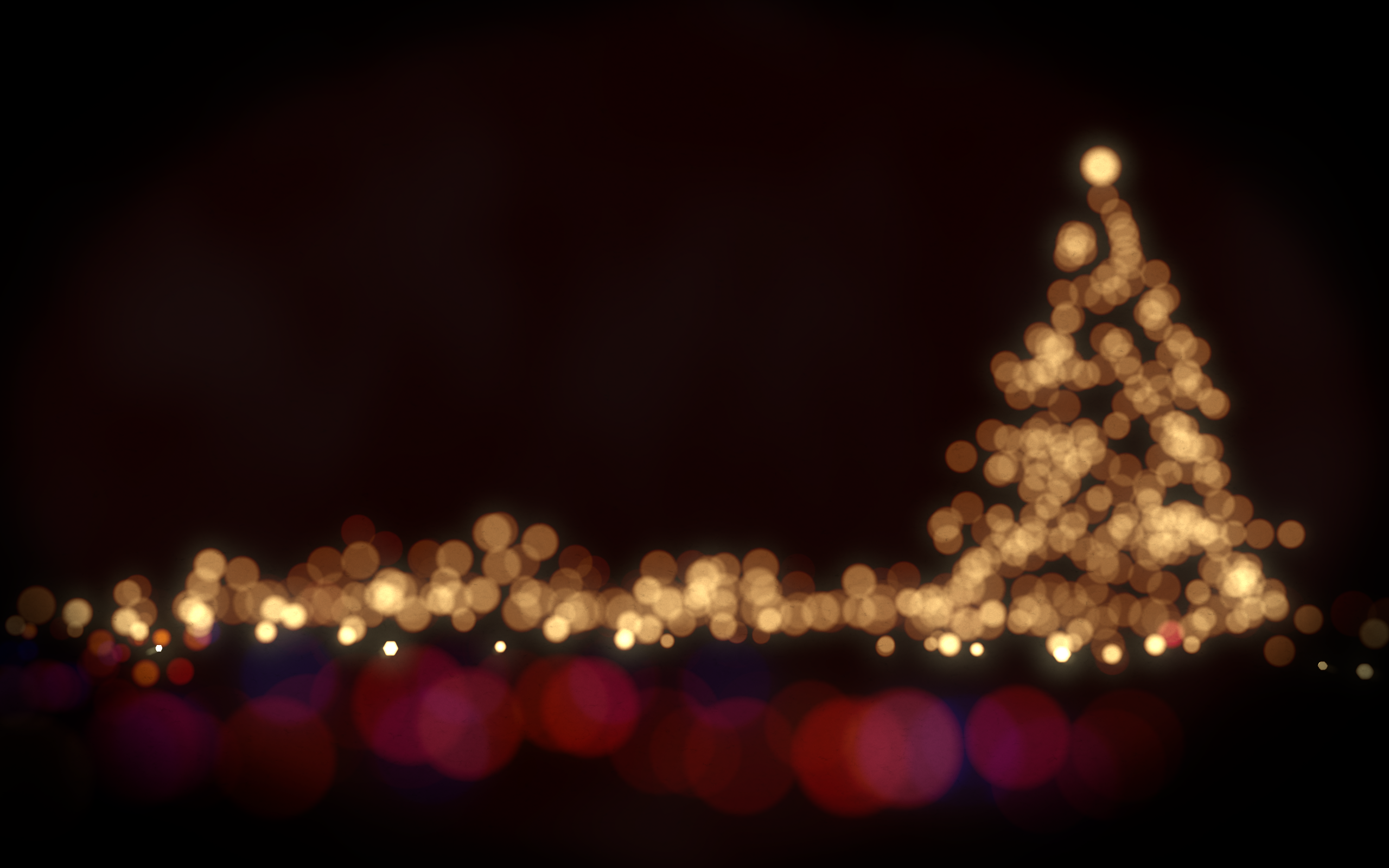 Christmas Bokeh HD Wallpaper, Background Images