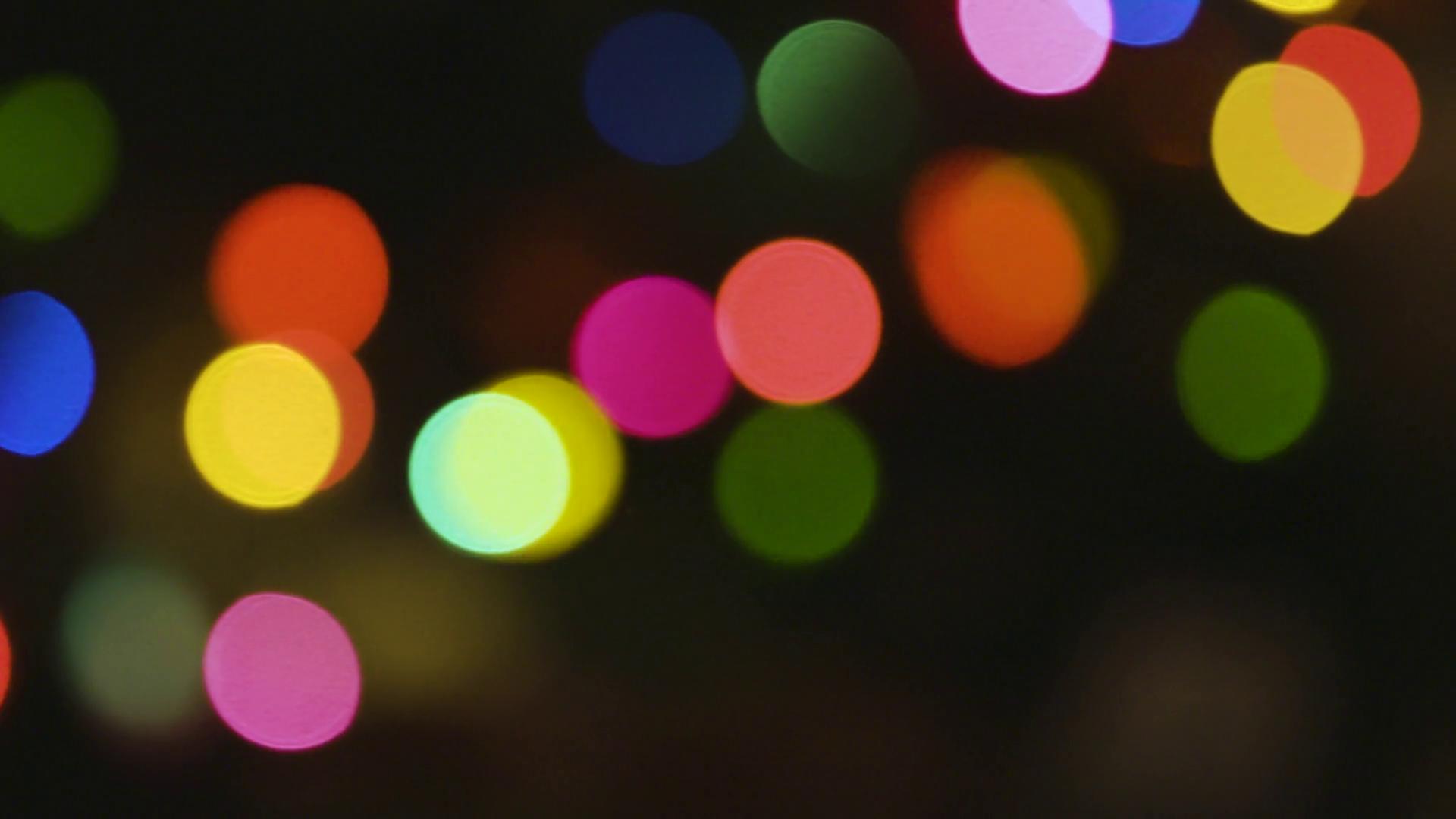 Beautiful Bokeh Christmas lights around a Christmas Tree Stock Video ...