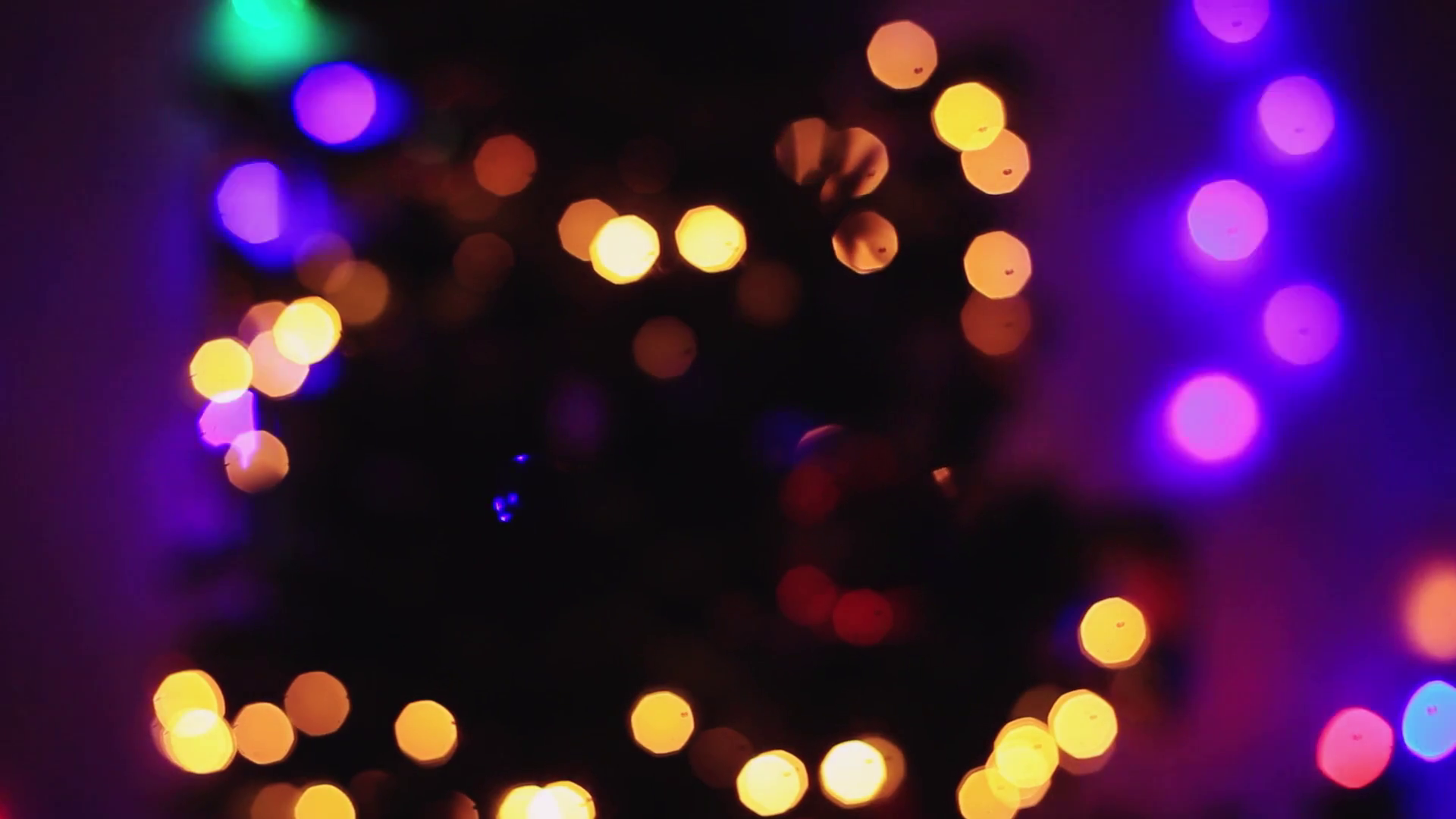 Defocused Christmas tree lights bokeh background Stock Video Footage ...