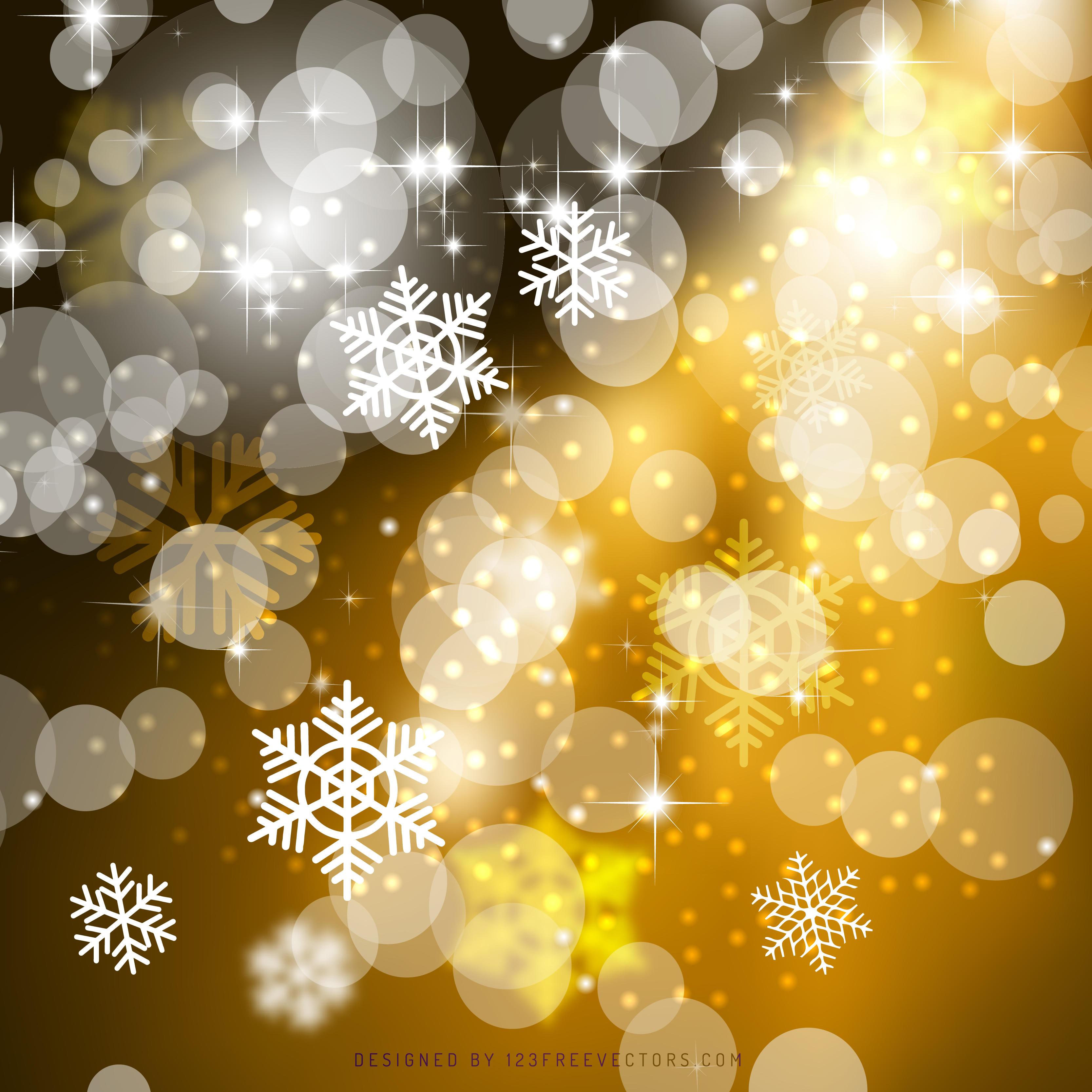 Dark Orange Christmas Bokeh Lights Background | 123Freevectors