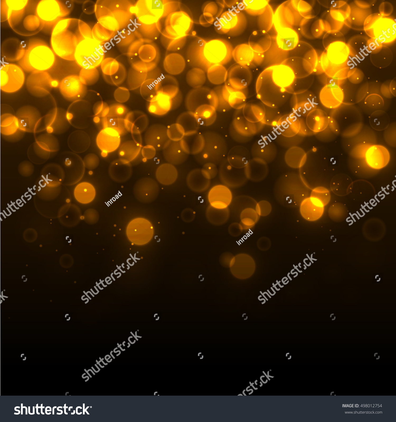Bokeh Effect Golden Light Background Christmas Stock Vector ...