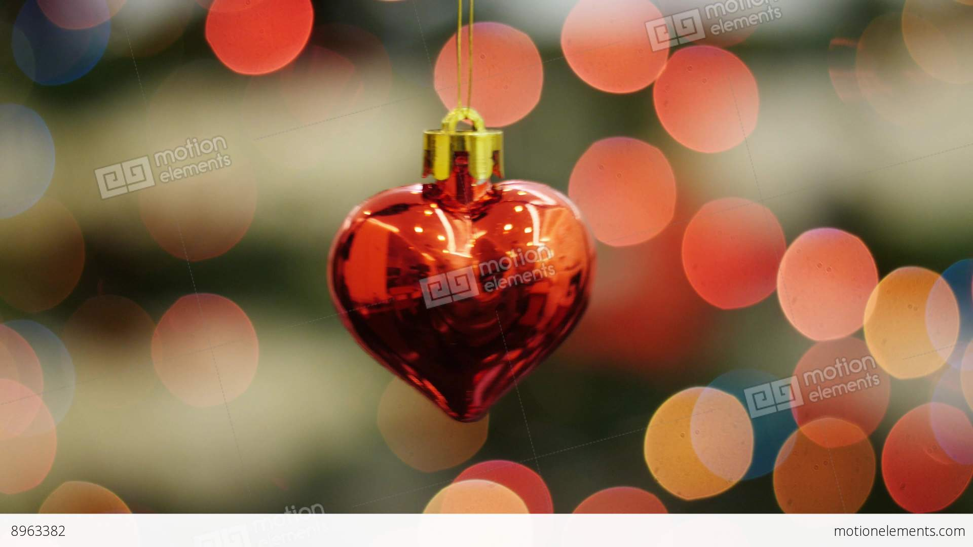 Christmas Toy Heart Shakes At Background Bokeh Stock video footage ...