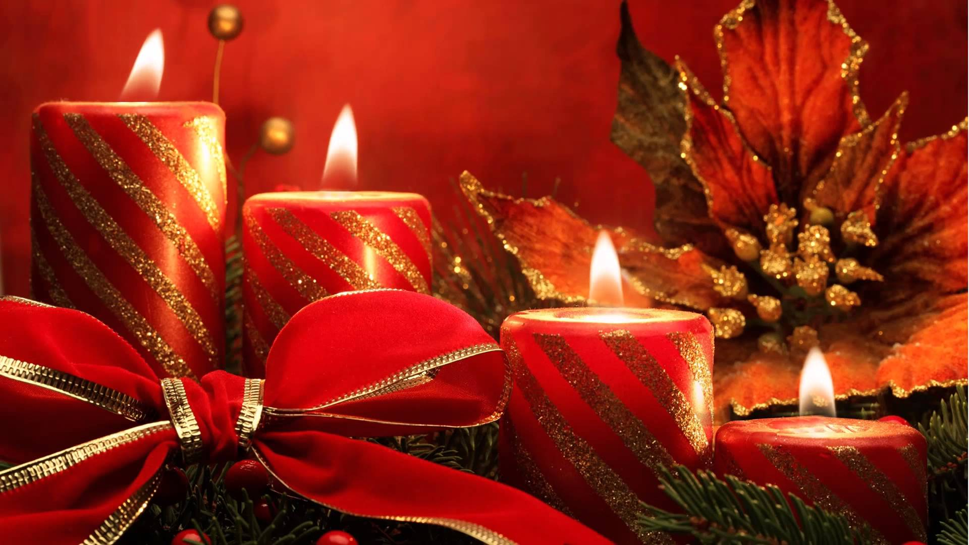 Christmas magic - wonderful burning candles for Christmas - YouTube