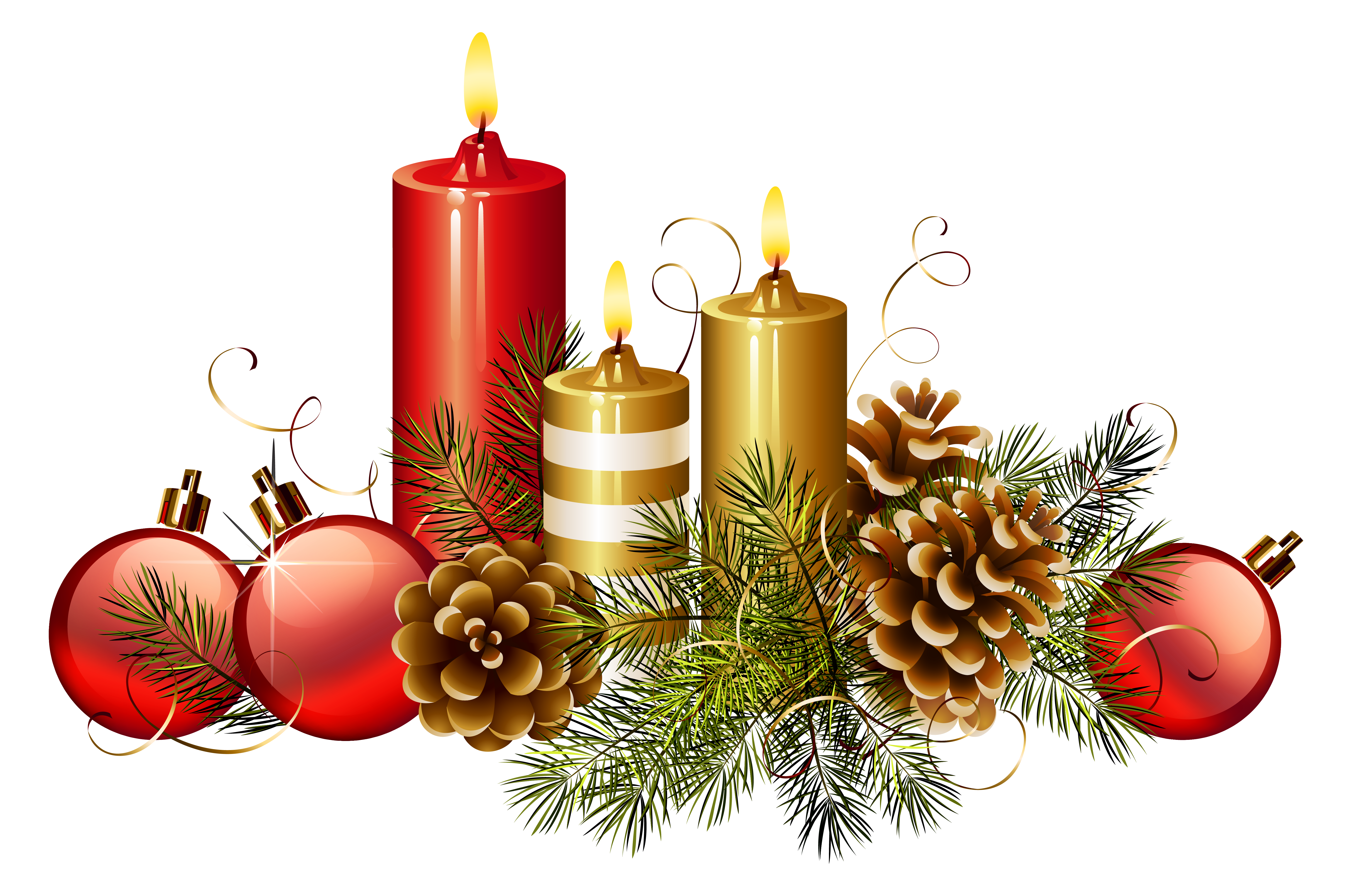 Christmas Candles PNG Clipart Image | Gallery Yopriceville - High ...