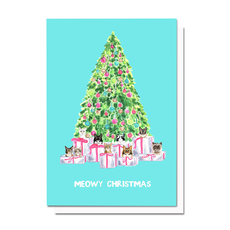 Meowy Christmas Card – Evelyn Henson