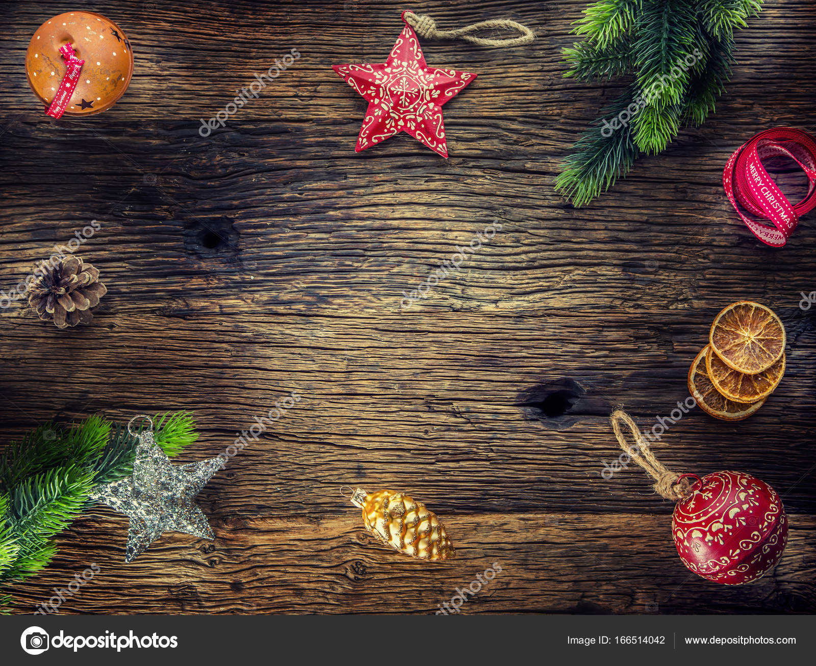 Christmas. Christmas composition fir branches pine cones jingle ...