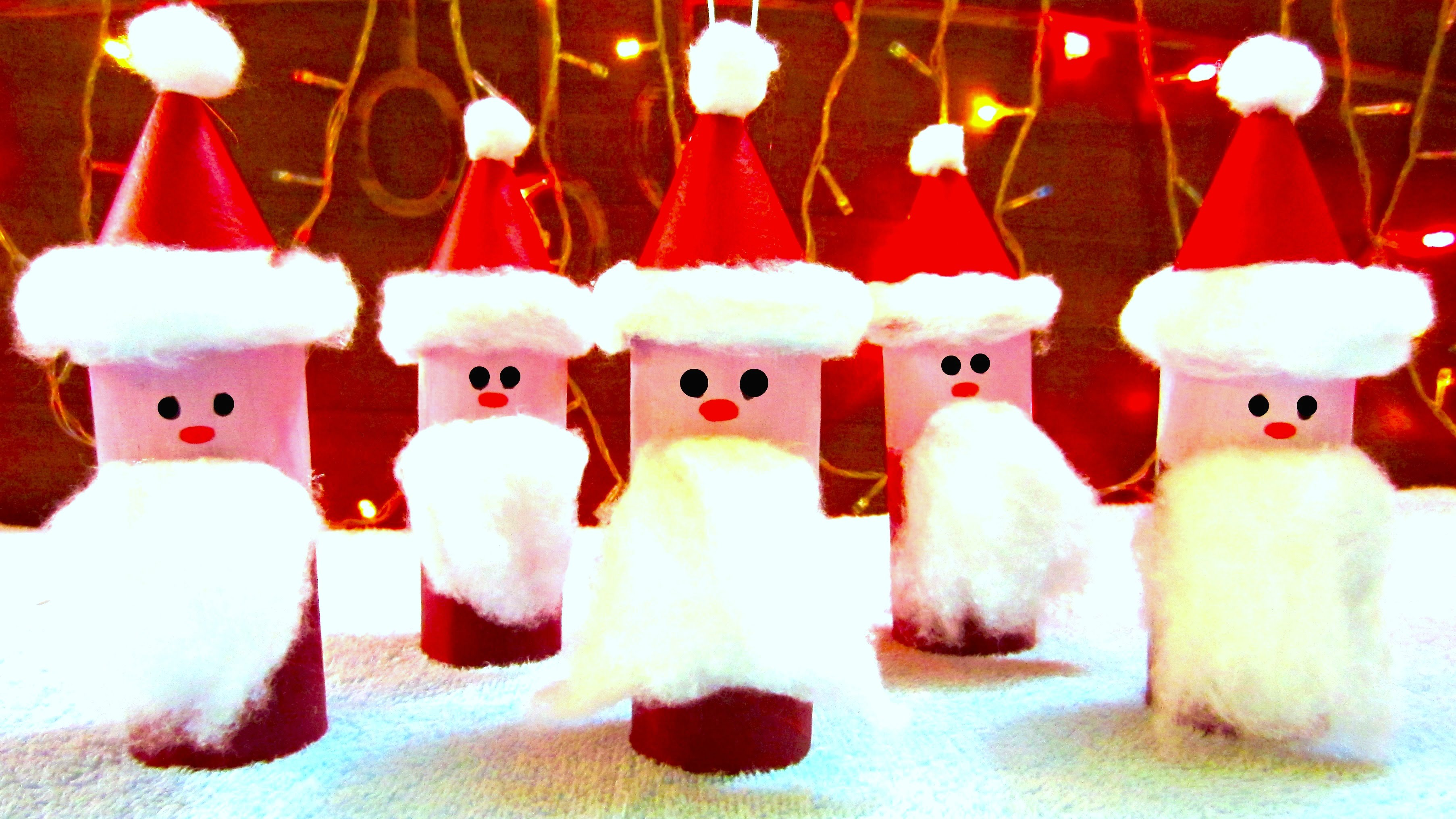 Toilet Paper Roll Santa Claus Ornaments | How to Make Christmas ...