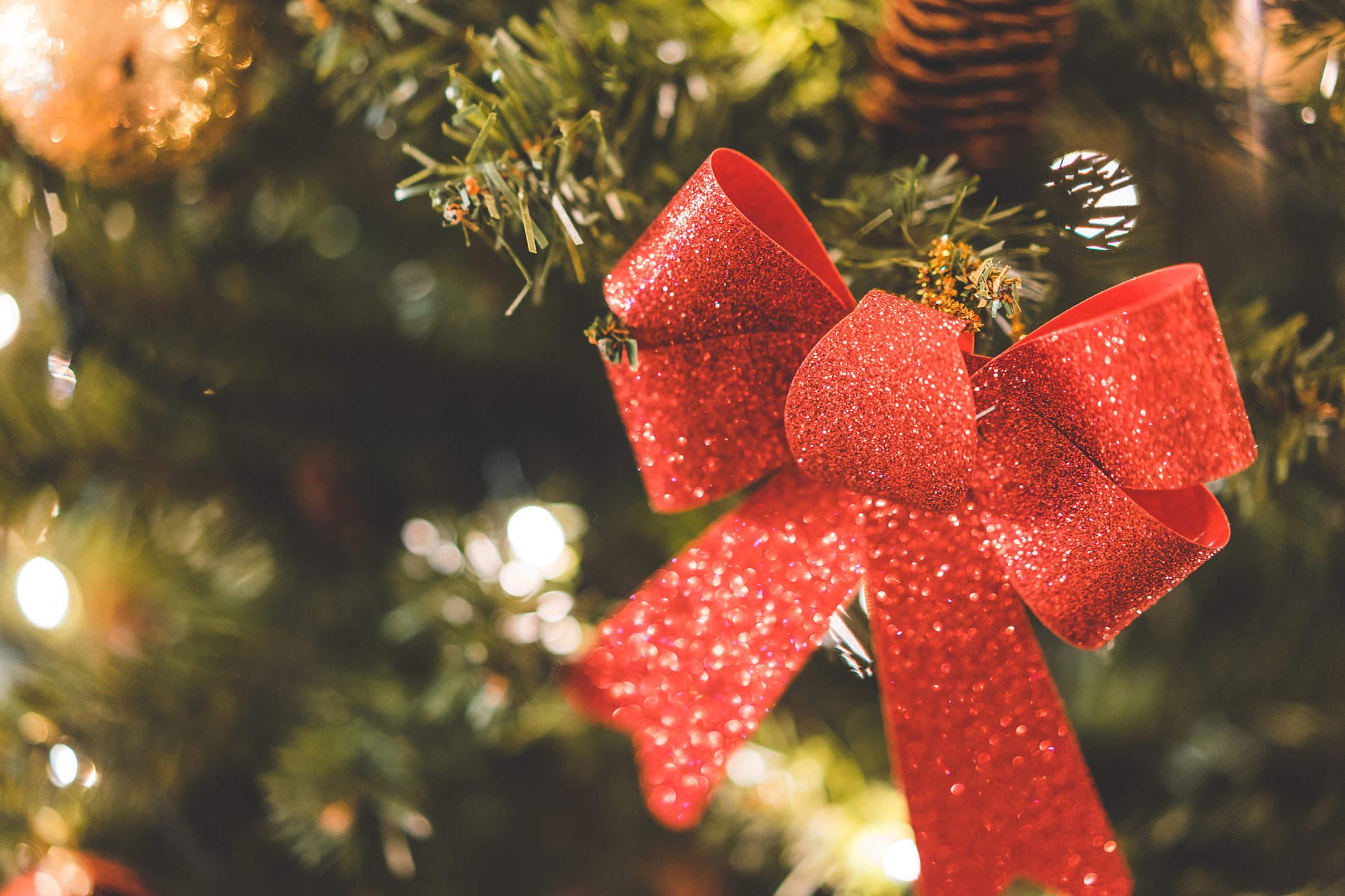 Glittering Christmas Tree Decoration Free Stock Photo Download ...
